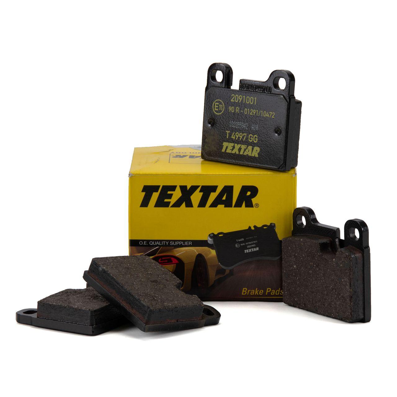 TEXTAR Bremsbeläge PORSCHE 911 01.63-11.90 vorne / hinten 912 01.65-02.70 vorne