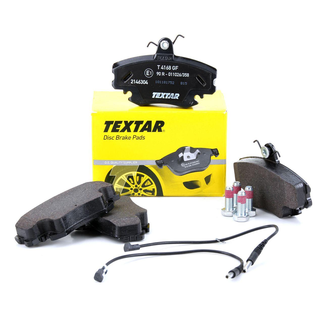 TEXTAR Bremsbeläge Bremsklötze + Wako für Dacia Peugeot Renault vorne