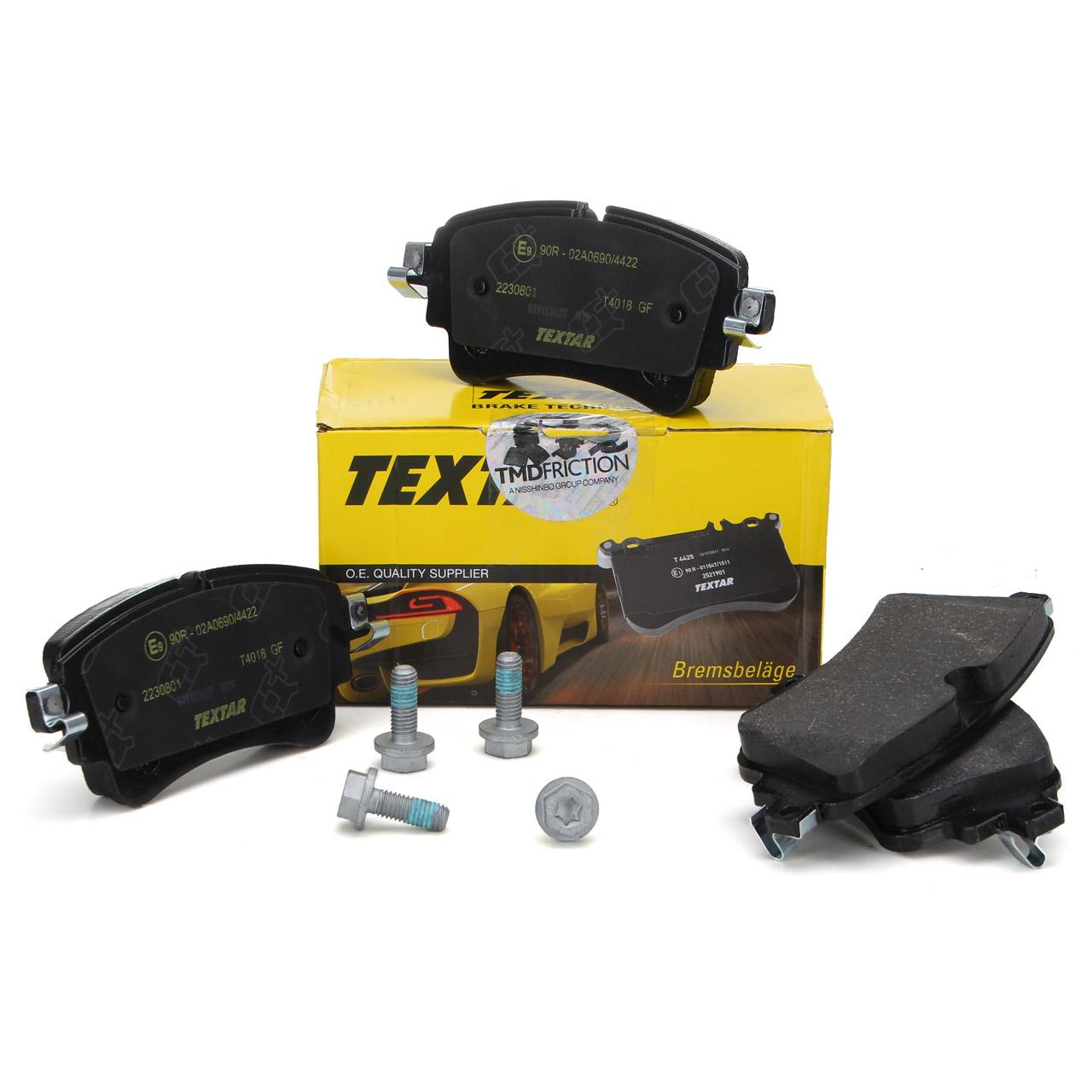 TEXTAR 2230801 Bremsbeläge AUDI A4 A5 A6 A7 A8 Q5 Q7 VW TOUAREG hinten 8W0698451Q