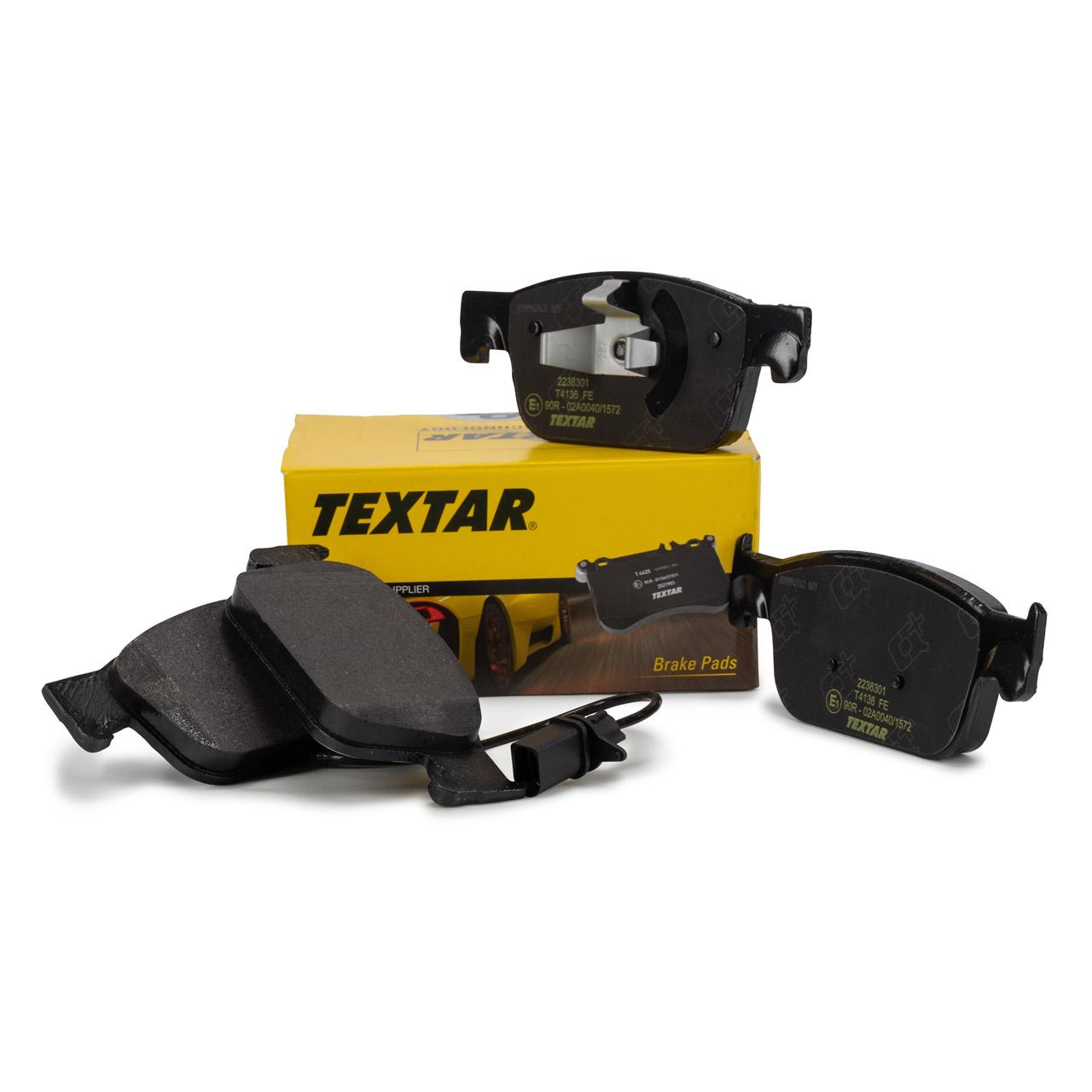 TEXTAR Bremsbeläge + Warnkontakt AUDI A4 B9 A5 F5 PR-1LA/1LB 2238301 vorne