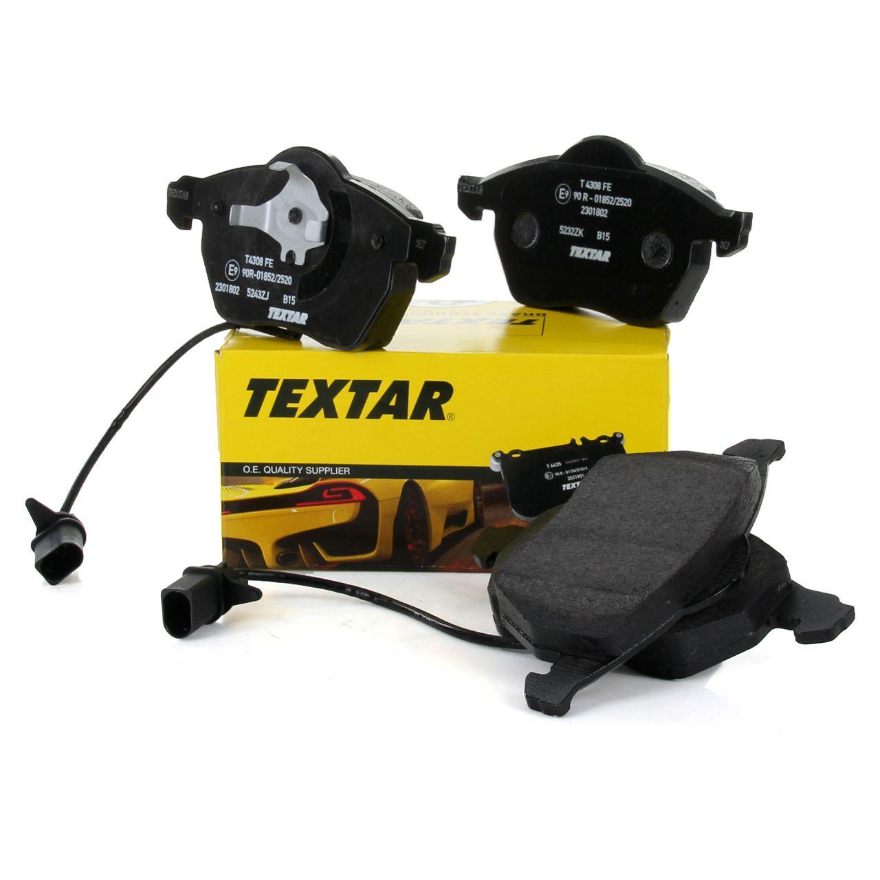 TEXTAR Bremsbeläge + Wako für AUDI A4 (B5 B6 B7) A6 (C5 C6) VW PASSAT (3B) vorne