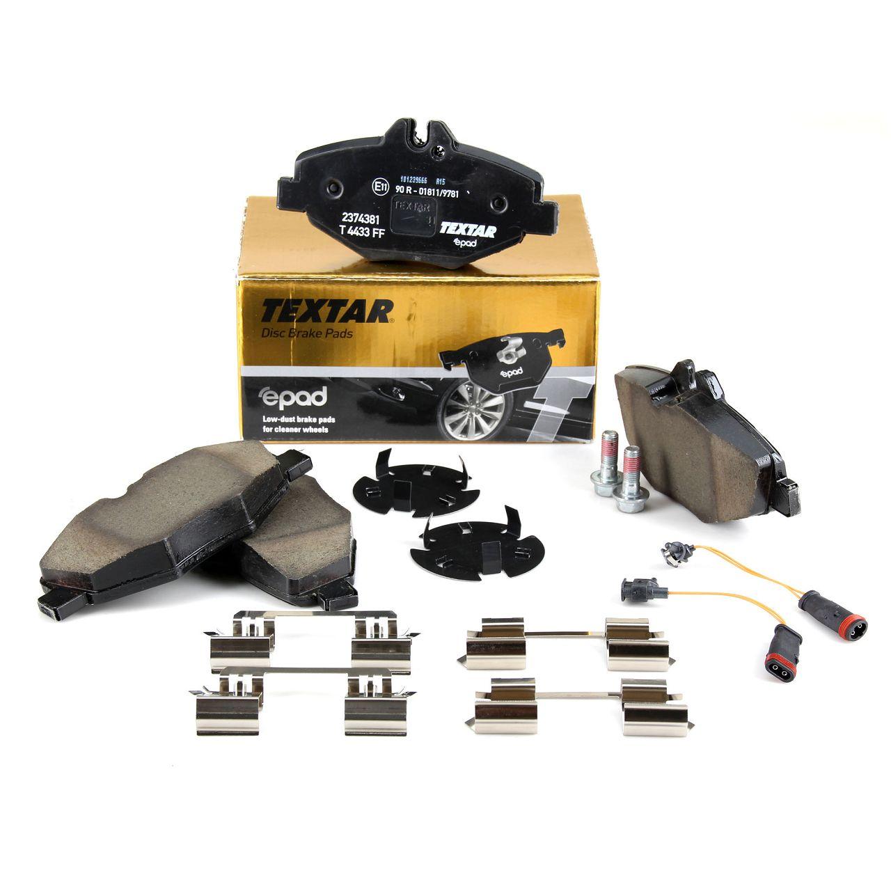 TEXTAR 2374381 epad Bremsbeläge + Wako MERCEDES E-Klasse W211 S211 vorne