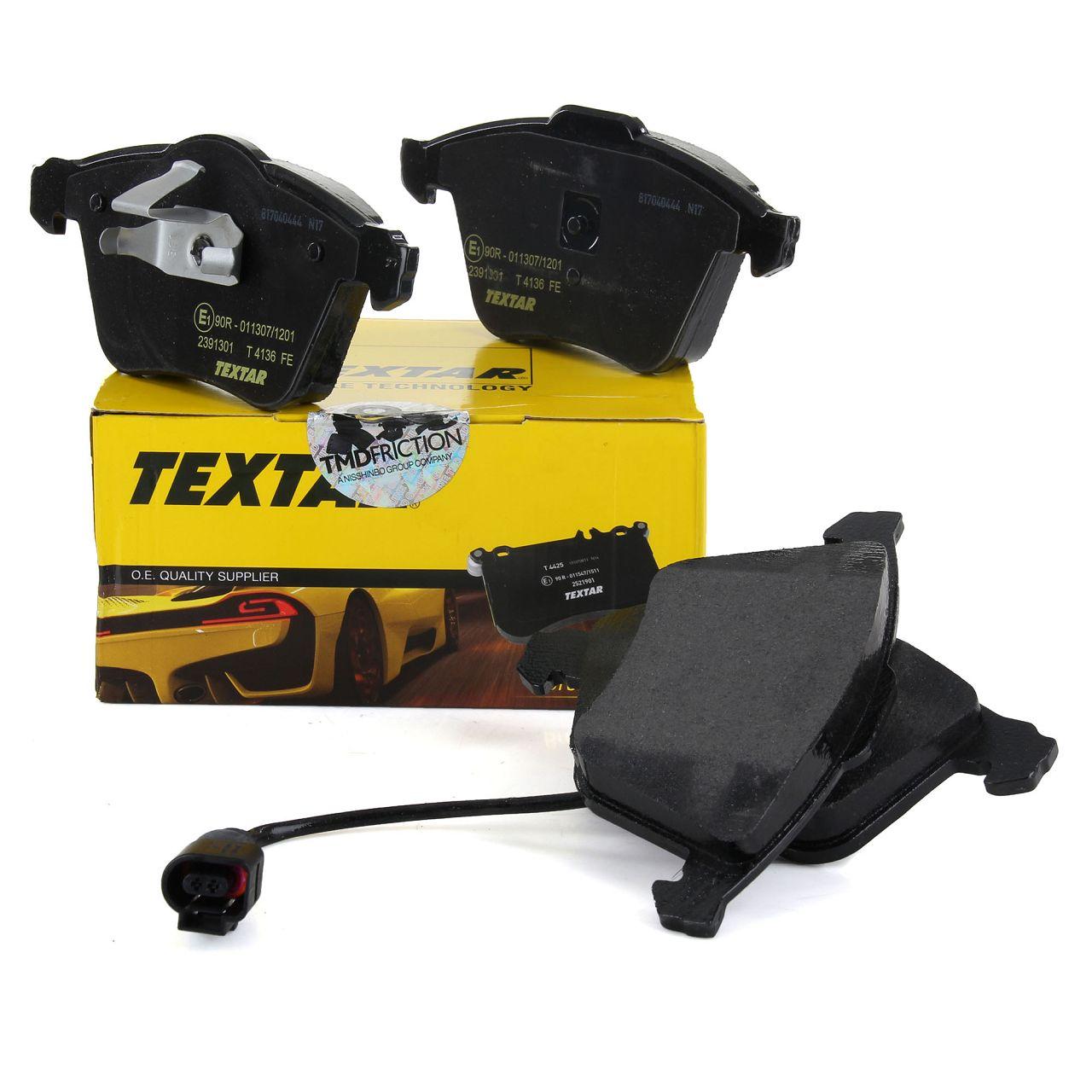 TEXTAR Bremsbeläge + Wako für AUDI S3 TTS SEAT VW GOLF 6 SCIROCCO R vorne