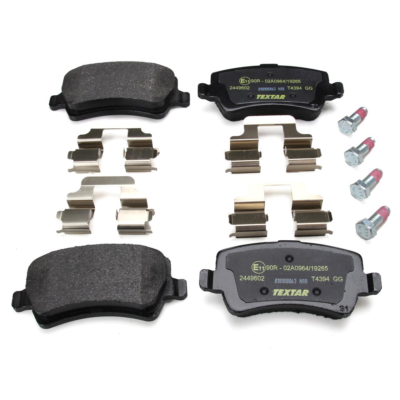 TEXTAR Bremsen Bremsscheiben + Bremsbeläge für FORD GALAXY S-MAX (WA6) hinten