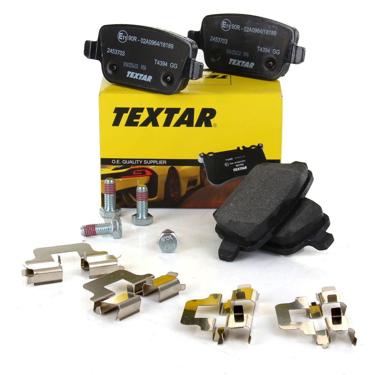 TEXTAR Bremsbeläge für FORD FOCUS II 2.5 RS GALAXY KUGA I MONDEO IV S-MAX hinten