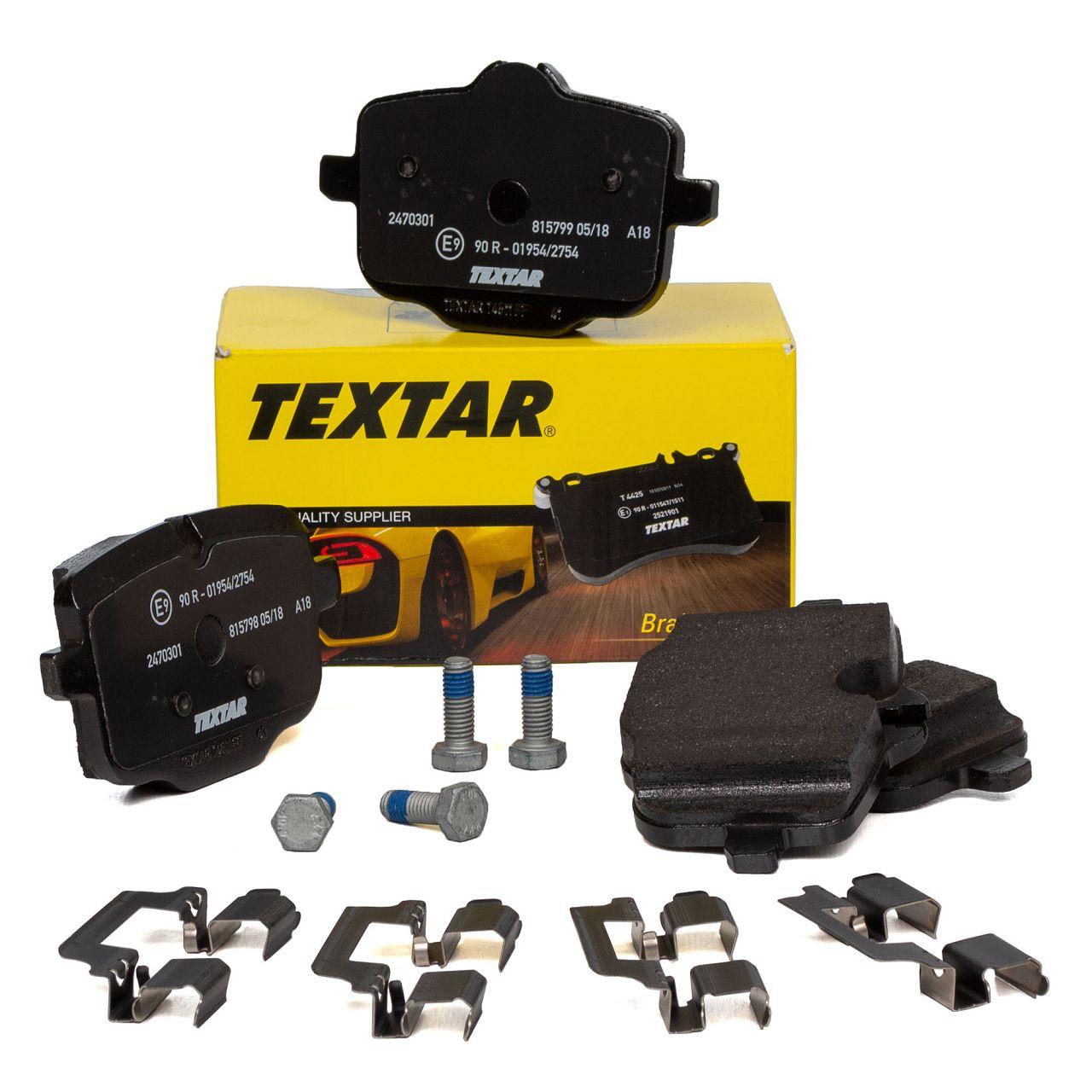 TEXTAR Bremsbeläge für BMW 5er F10 F18 F11 6er F12 F13 F06 7er F11 G12 hinten