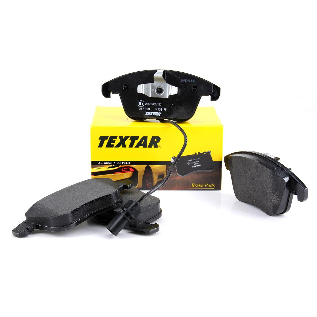 TEXTAR Bremsbeläge Bremsbelagsatz + Wako für Audi A4 (8K B8) A5 PR-1L/1LY vorne