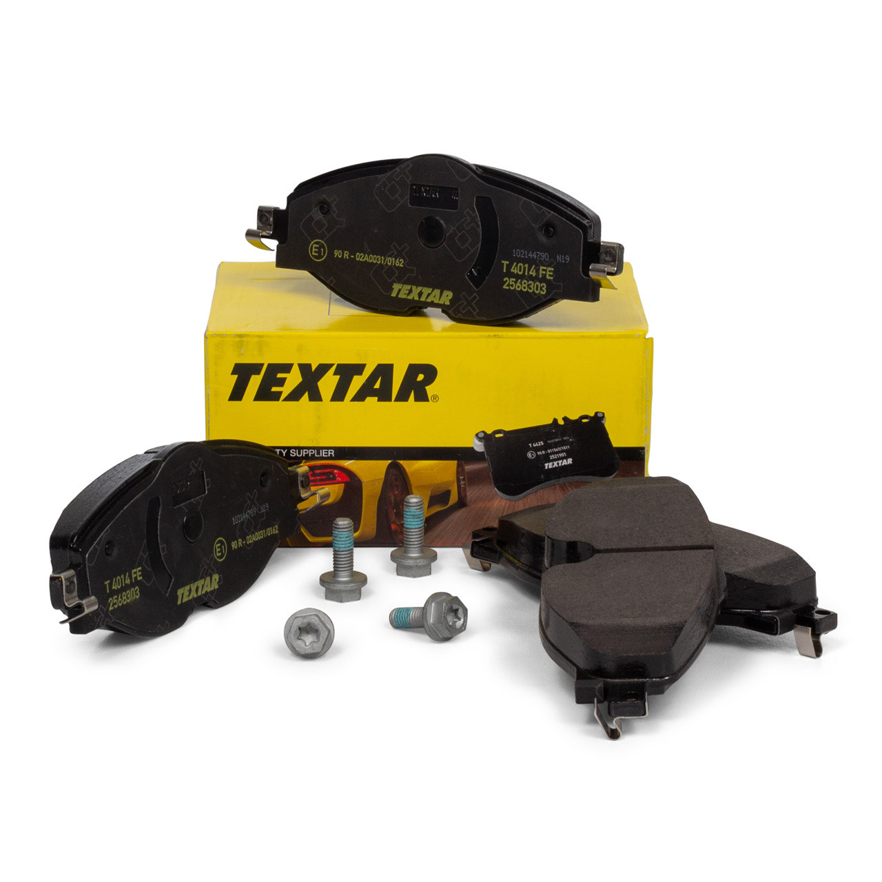 TEXTAR Bremsbeläge AUDI A1 (GBA) SKODA Karoq VW Golf 7 Passat Polo 2568303 vorne