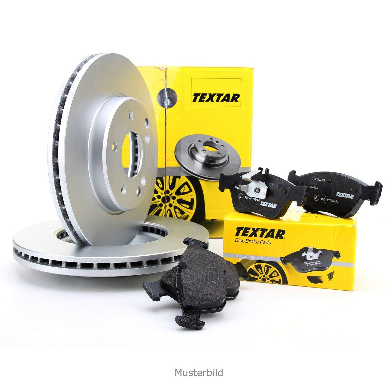 TEXTAR Bremsscheiben + Bremsbeläge MERCEDES A-/B-Klasse W169 W245 vorne
