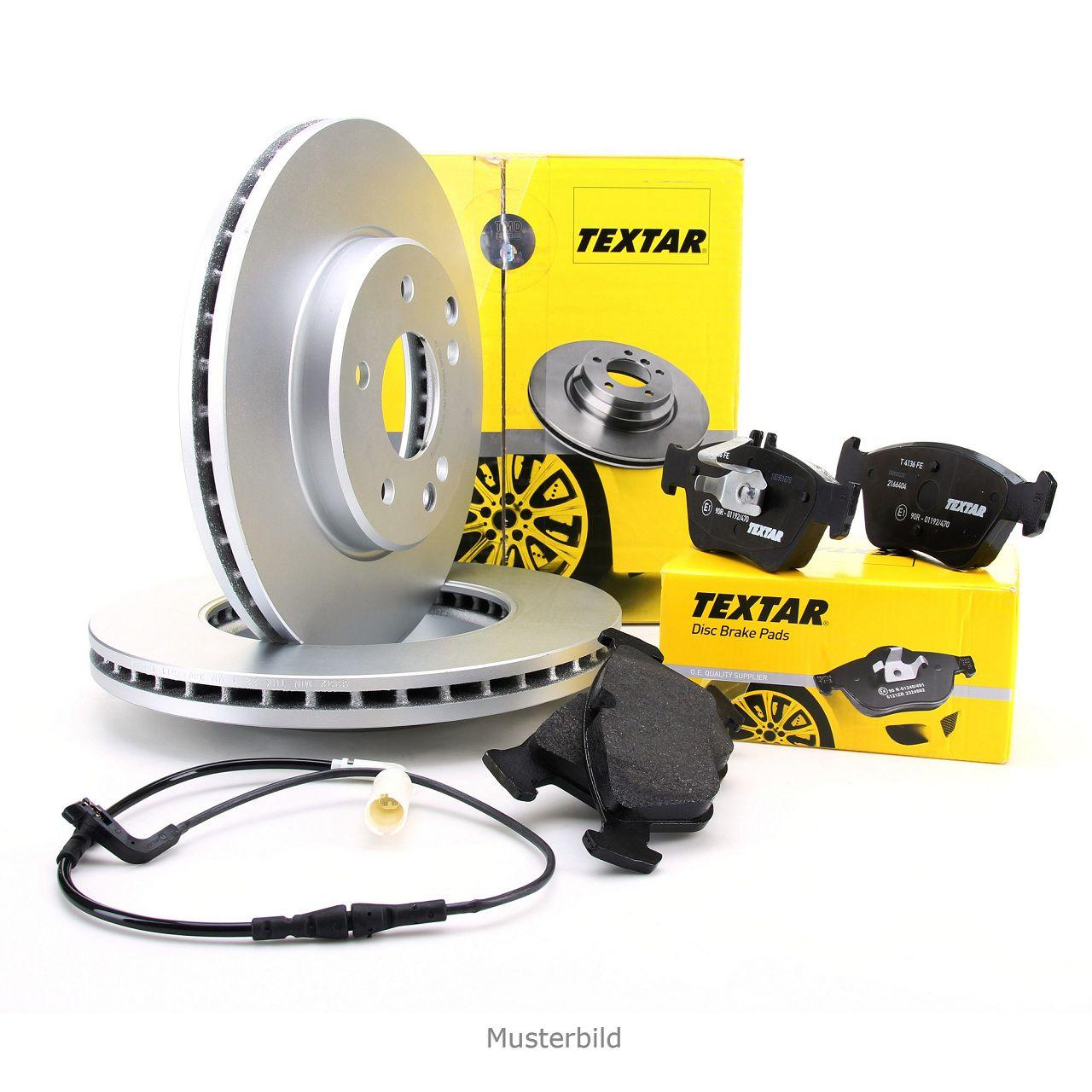 TEXTAR Bremsscheiben + Bremsbeläge + Wako MERCEDES A-Klasse W169 B-Klasse W245 vorne
