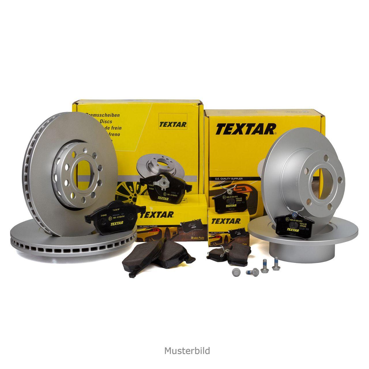 TEXTAR Bremsscheiben + Beläge OPEL Astra H Combo Corsa C Zafira A vorne + hinten