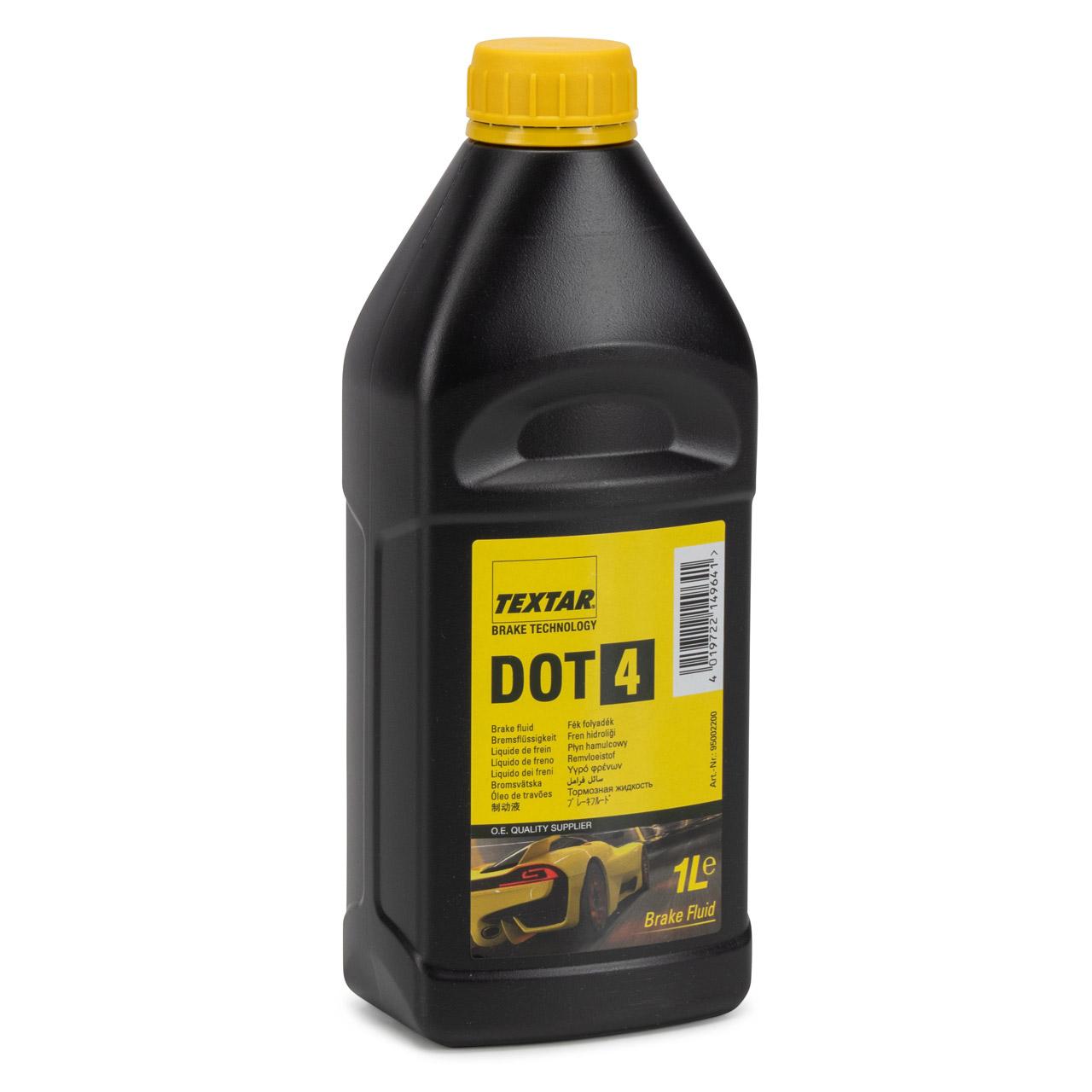 TEXTAR 95002200 Bremsflüssigkeit Brake Fluid DOT4 - 1 Liter 1L