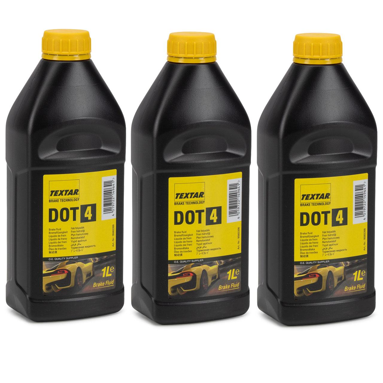 TEXTAR 95002200 Bremsflüssigkeit Brake Fluid DOT4 - 3 Liter 3L