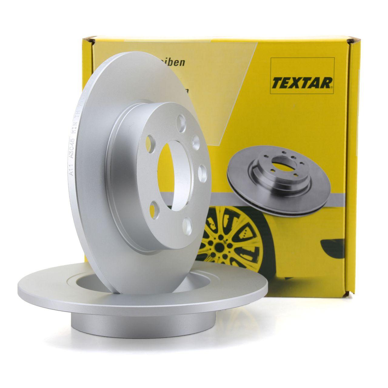 TEXTAR 92082503 Bremsscheiben Satz AUDI A1 A2 A3 TT VW Bora Golf 4 Polo hinten