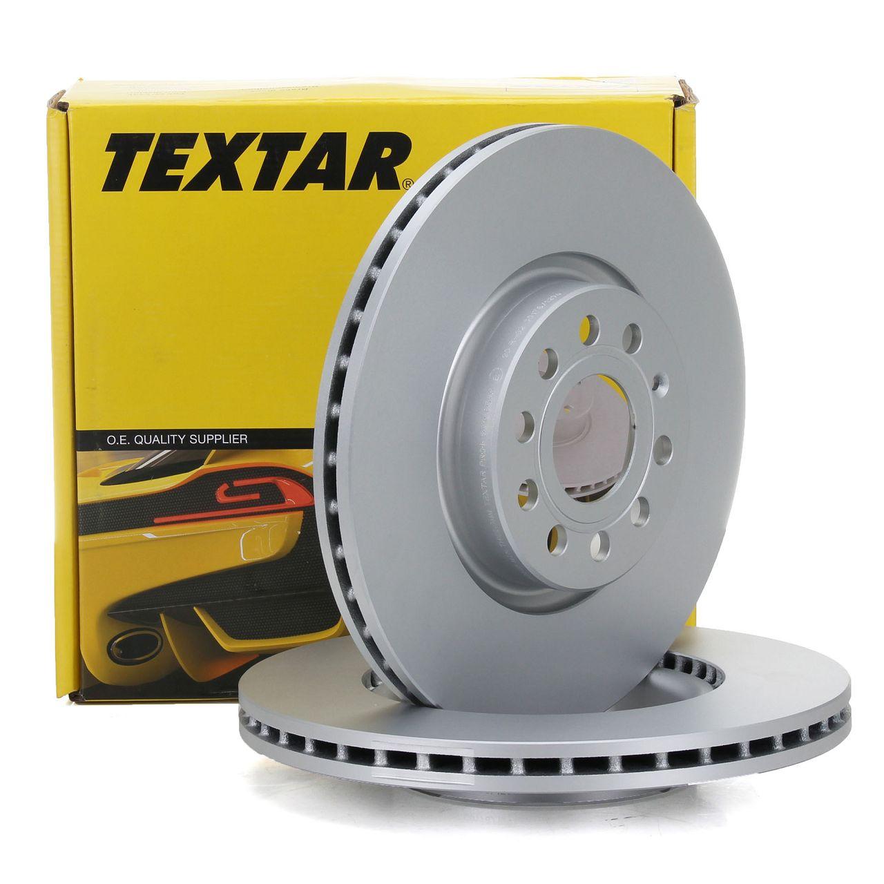 TEXTAR 92120505 Bremsscheiben Satz AUDI A1 A3 Q3 VW Golf 5 6 7 Passat Tiguan vorne