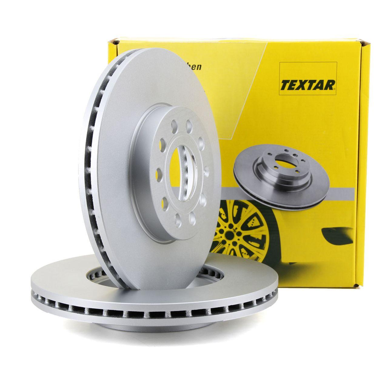 TEXTAR 92120805 Bremsscheiben Satz AUDI A3 8P 8V VW Golf 5 6 7 Polo Touran vorne