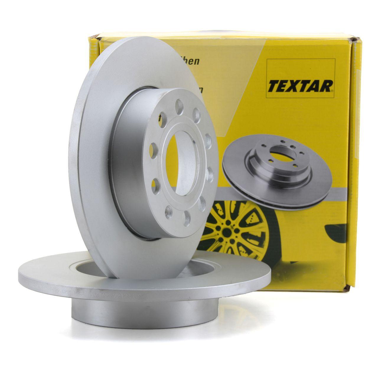 TEXTAR 92121103 Bremsscheiben Satzr AUDI A3 VW Caddy Golf 5 6 Jetta Touran hinten