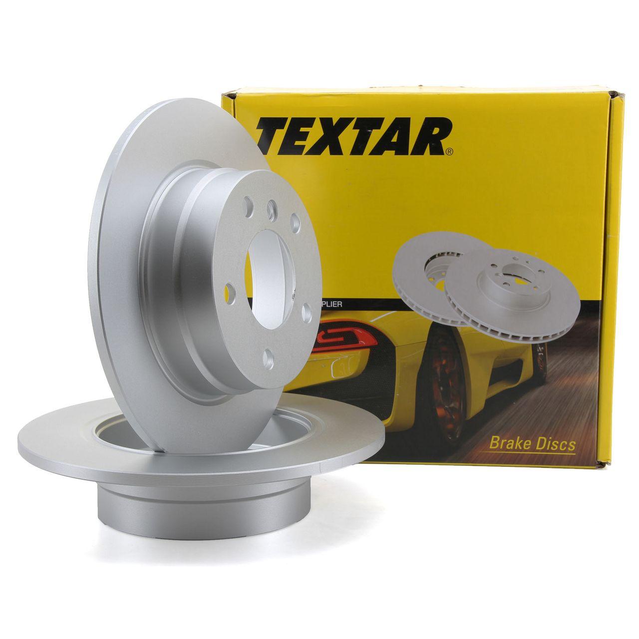 TEXTAR 92132903 Bremsscheiben Satz BMW 1er E81 E87 116/118i 116/118d ohne M-Technik hinten