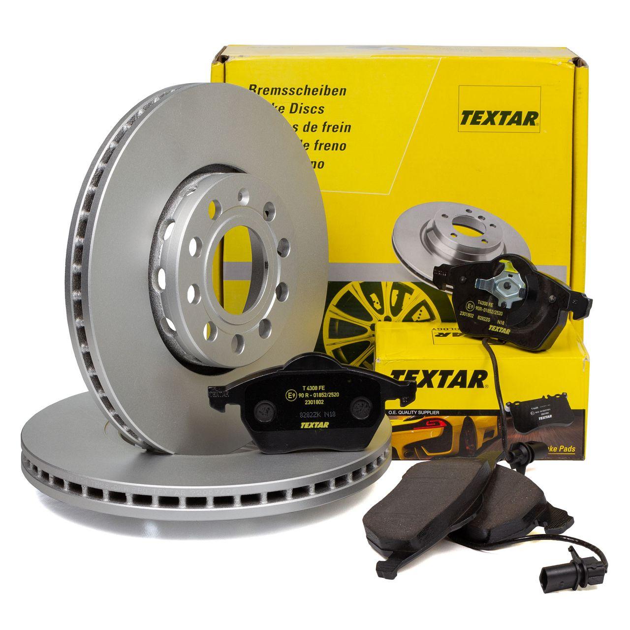 TEXTAR Bremsscheiben + Beläge + Wako AUDI A4 B6 B7 A6 C5 SEAT Exeo VW Passat B5 vorne