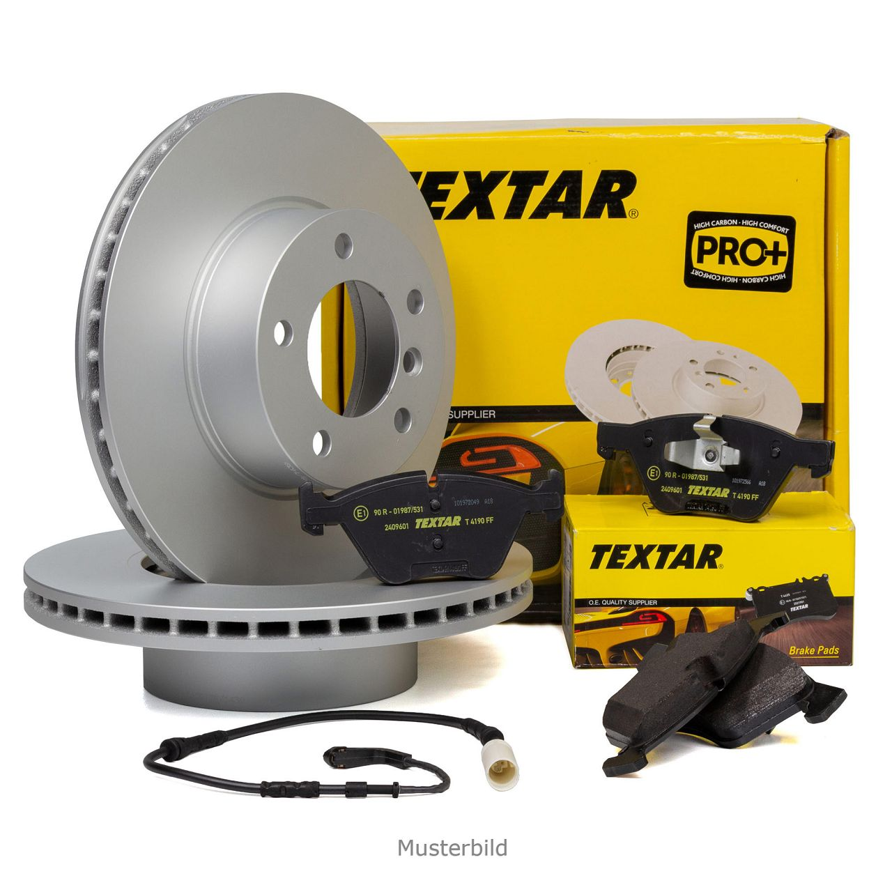 TEXTAR Bremsscheiben + Beläge + Wako MERCEDES C-Klasse W204 E-Klasse W212 SLK R172 vorne