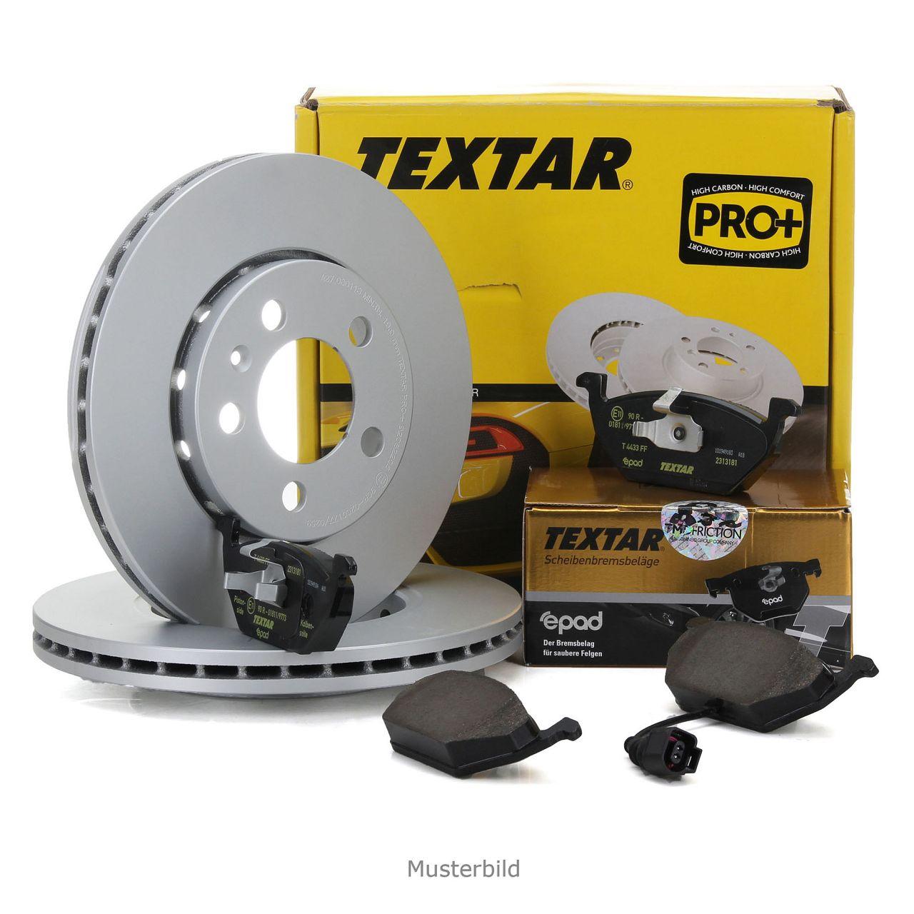 TEXTAR Bremsscheiben + epad Beläge + Wako AUDI A6 (4F C6) PR-1ZL/1LH vorne