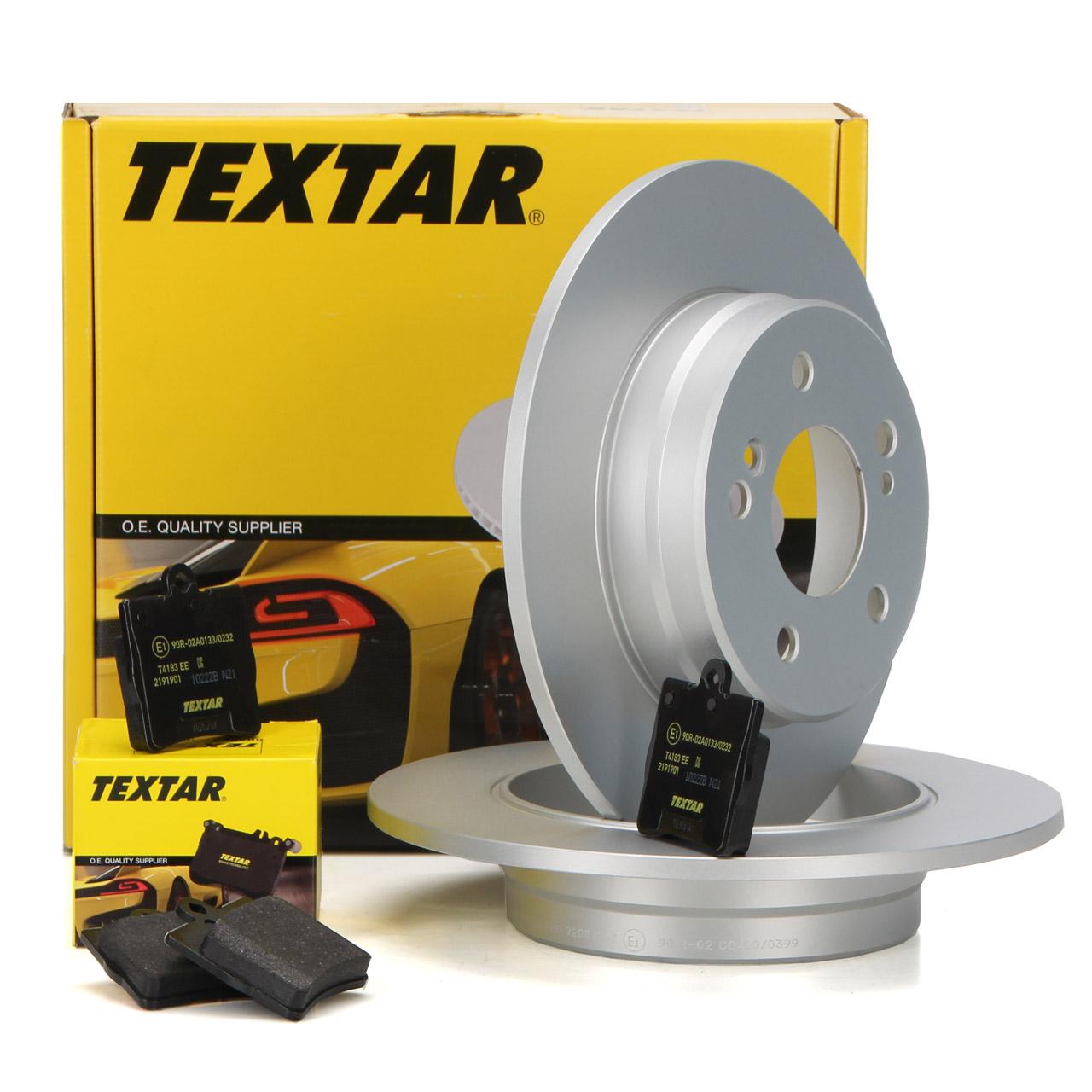TEXTAR Bremsscheiben + Beläge MERCEDES C-Klasse W203 CL203 CLK C209 SLK R171 hinten