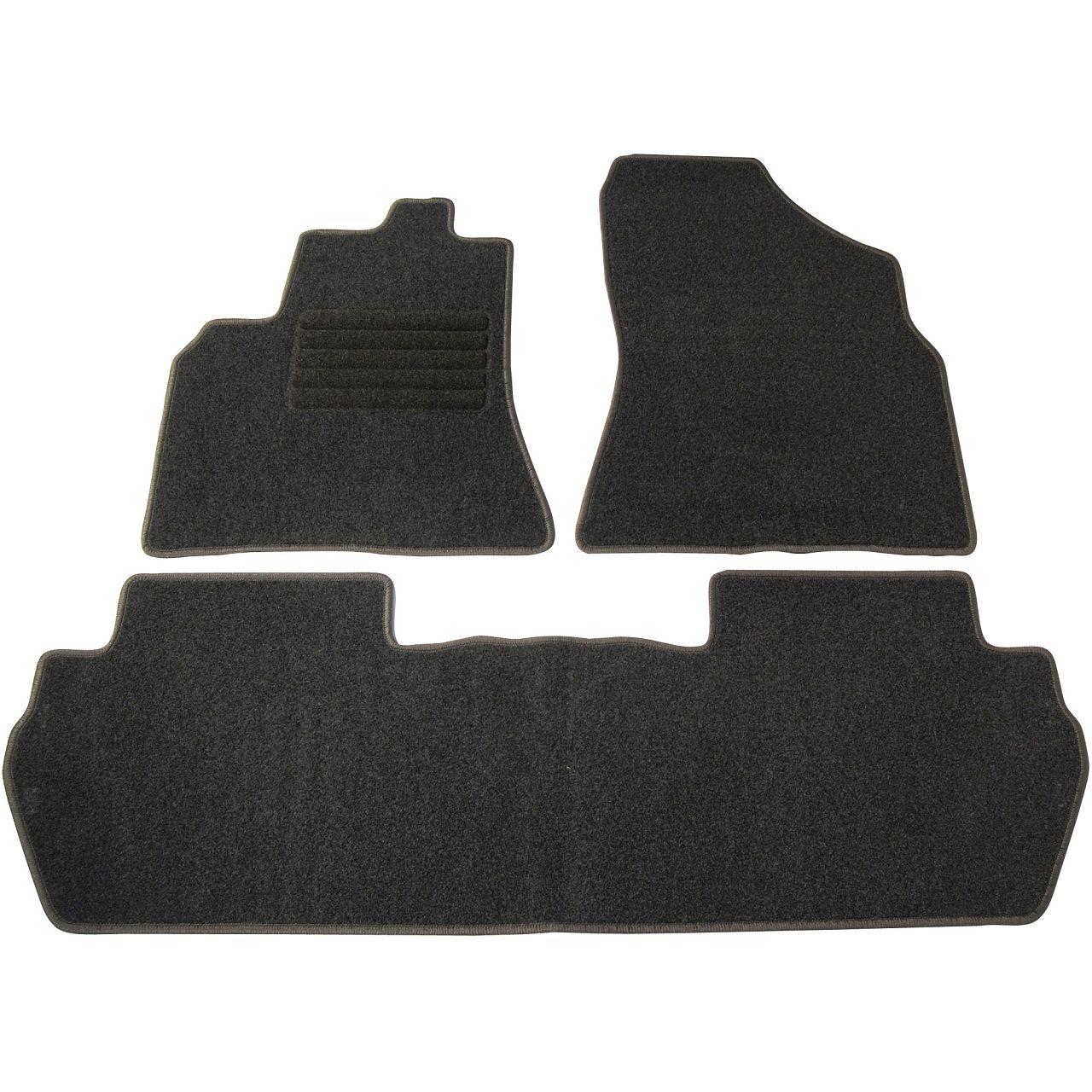 Veloursmatten Textilmatten Fußmatten Satz 3-tlg für PEUGEOT PARTNER TEPEE