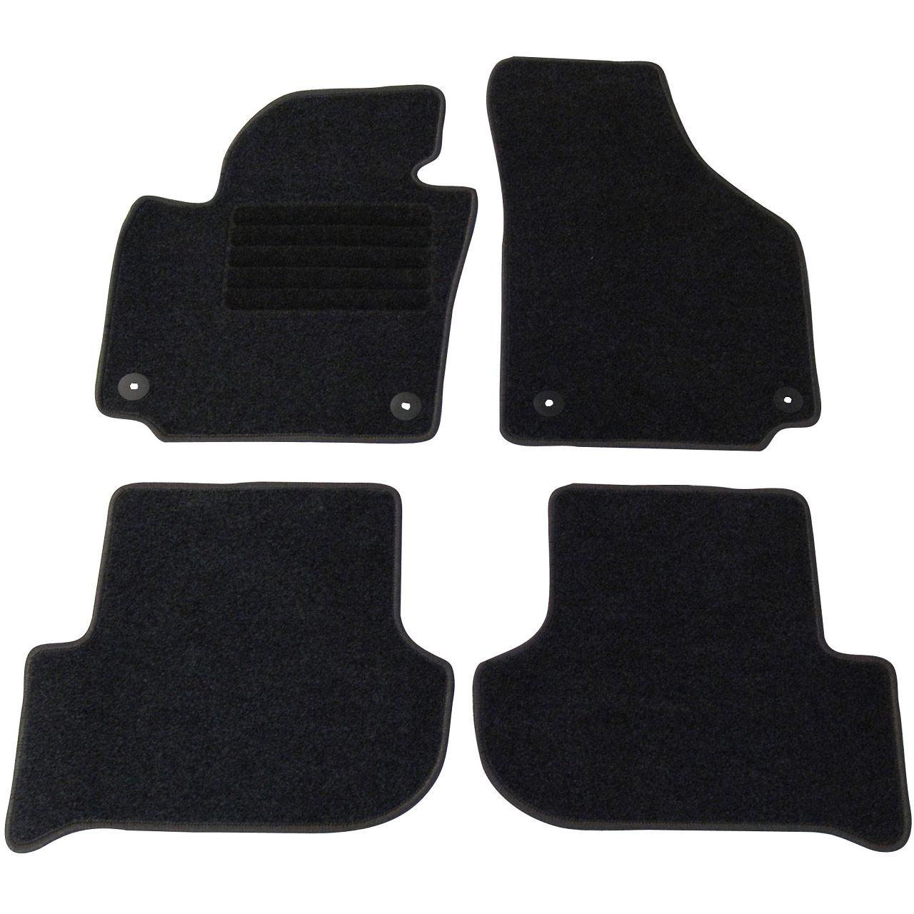 Veloursmatten Textilmatten Fußmatten Automatten 4-tlg für SKODA YETI 5L