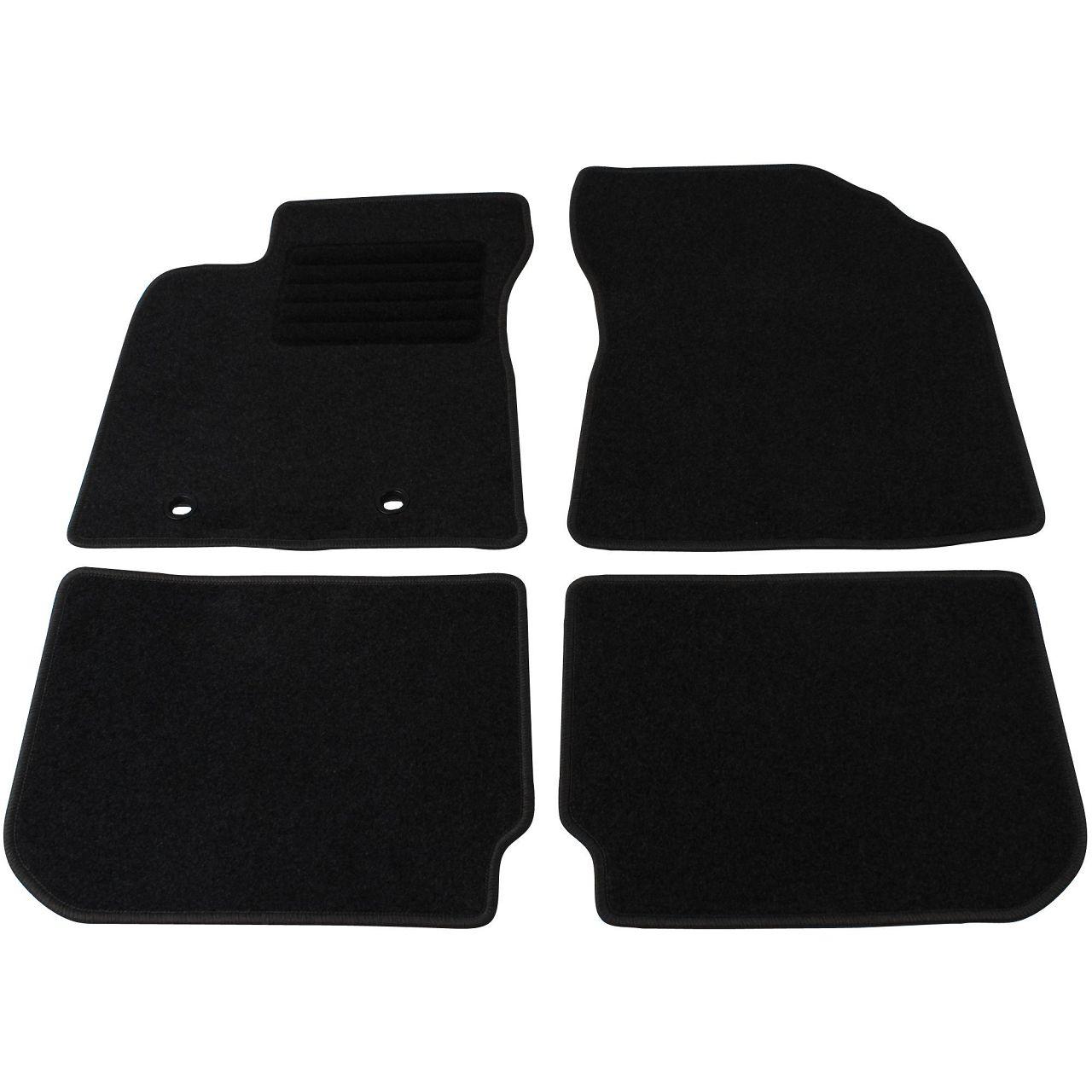 Veloursmatten Textilmatten Fußmatten für Toyota Avensis ab 01.2012 4-tlg