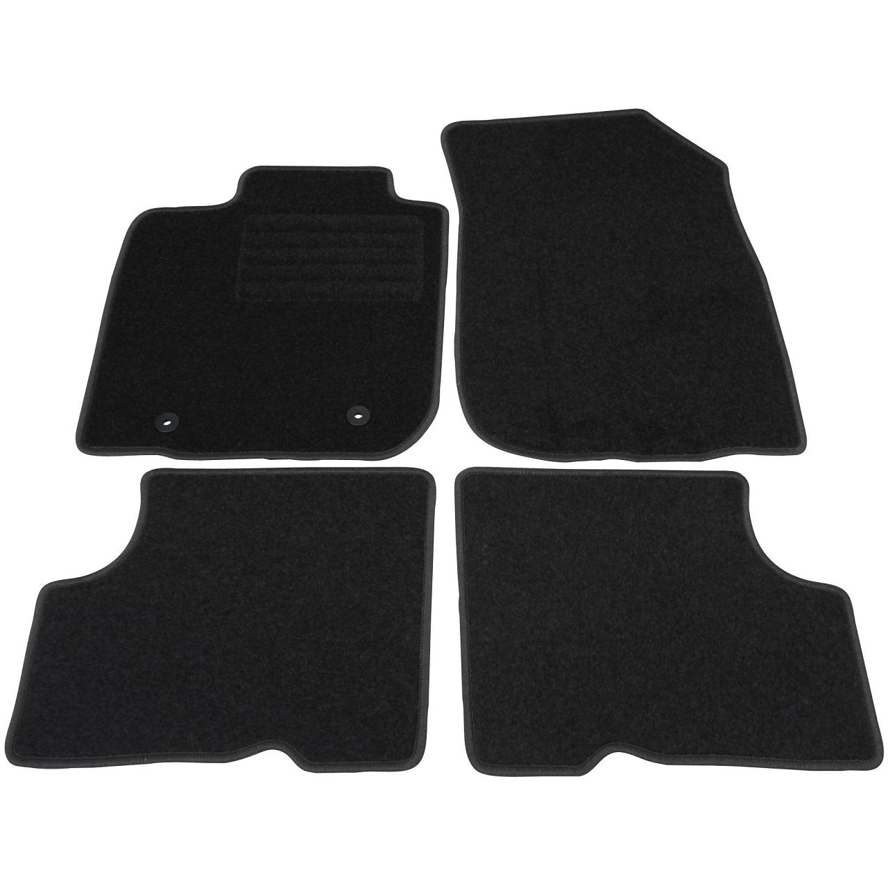 Veloursmatten Textilmatten Fußmatten Automatten Satz für Dacia Duster 2WD 4-tlg