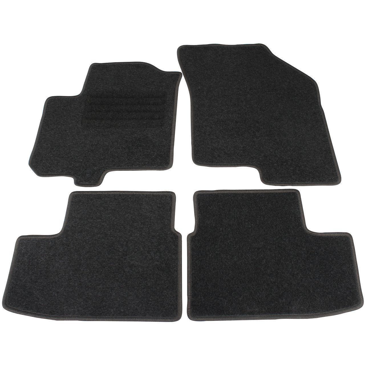 Veloursmatten Textilmatten Fußmatten Satz für SUZUKI SPLASH ab 06.2012 4-tlg