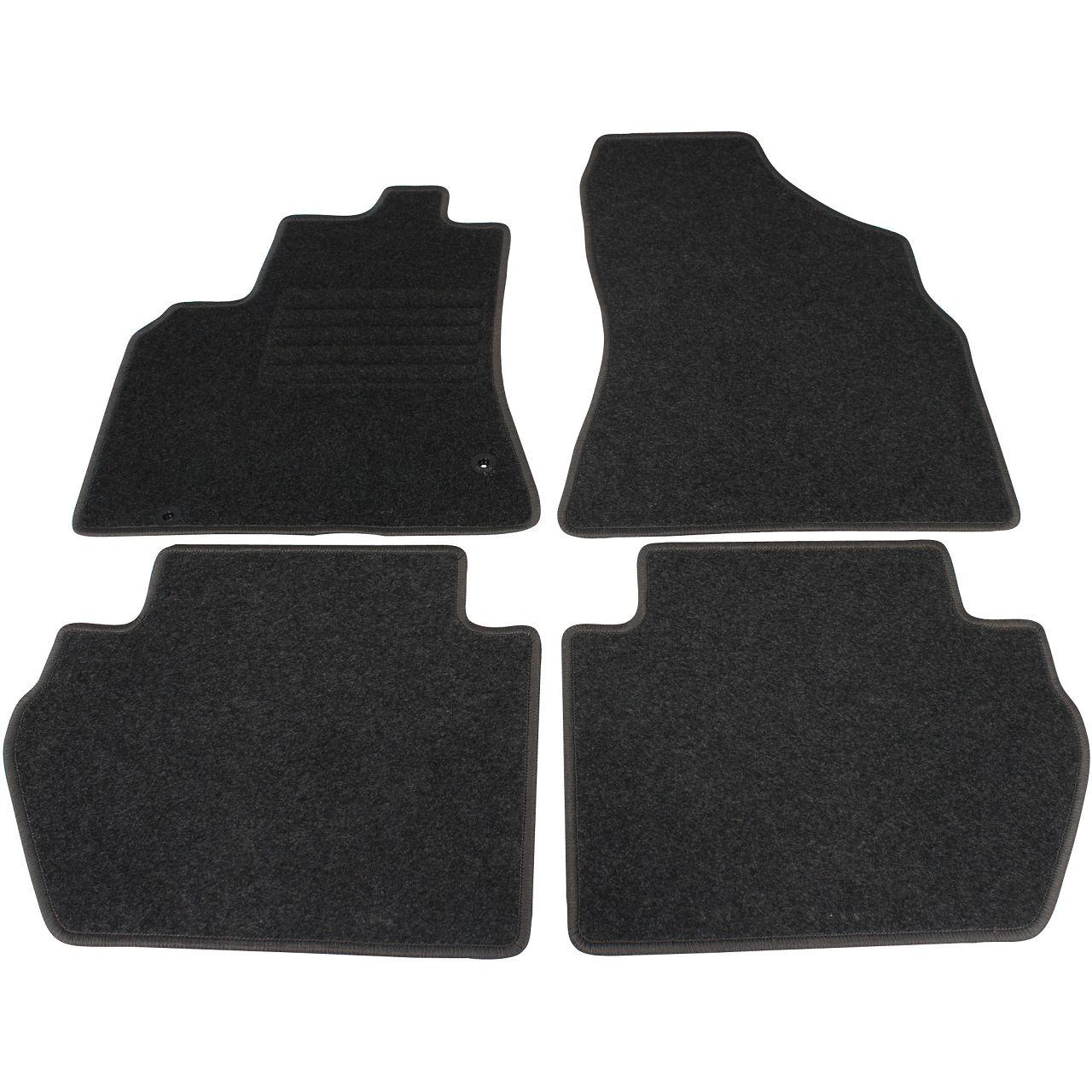 Veloursmatten Textilmatten Fußmatten Satz für Citroen Berlingo (B9) 4-tlg
