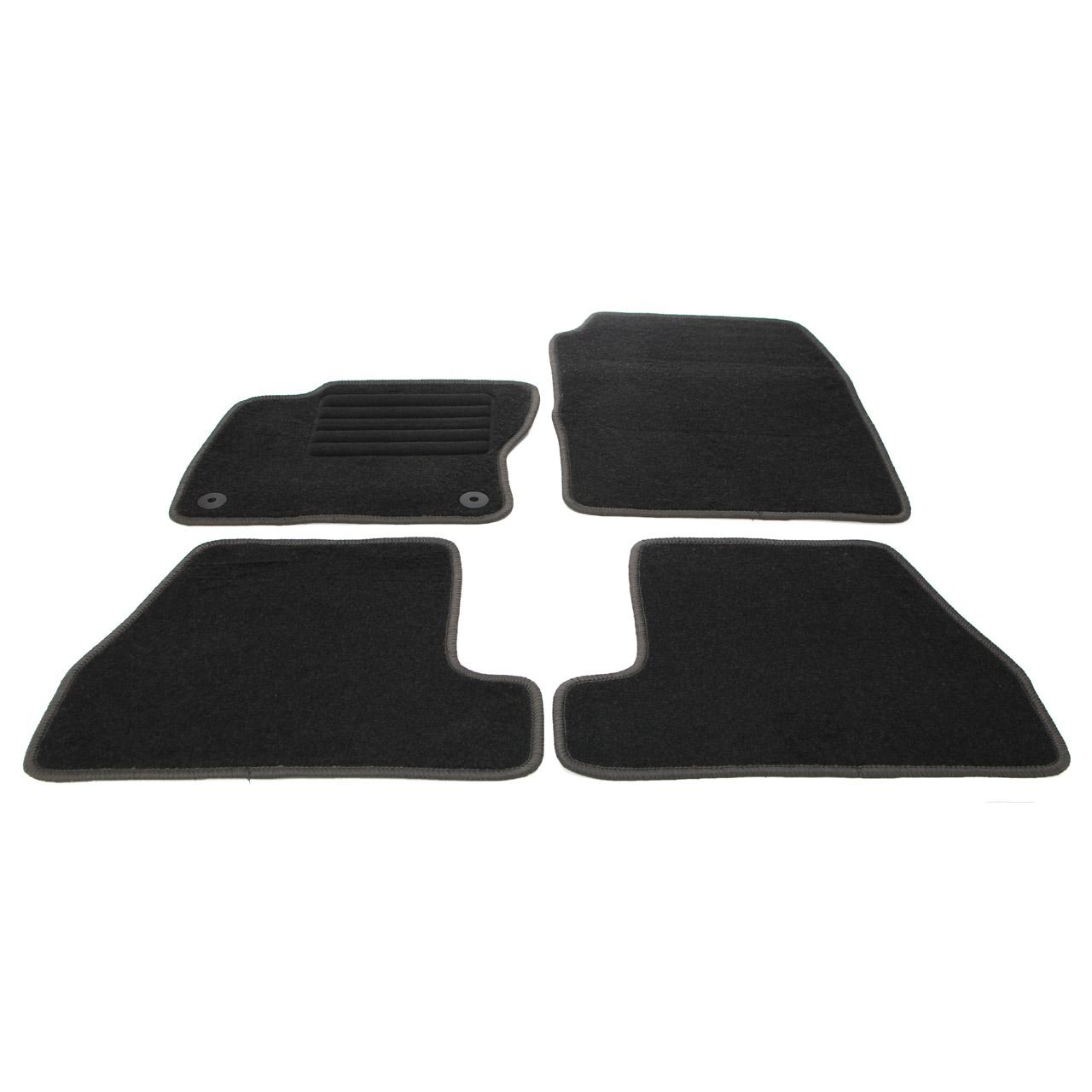 Veloursmatten Textilmatten Fußmatten FORD Focus 3 MK3 ab 04.2015 4-teilig
