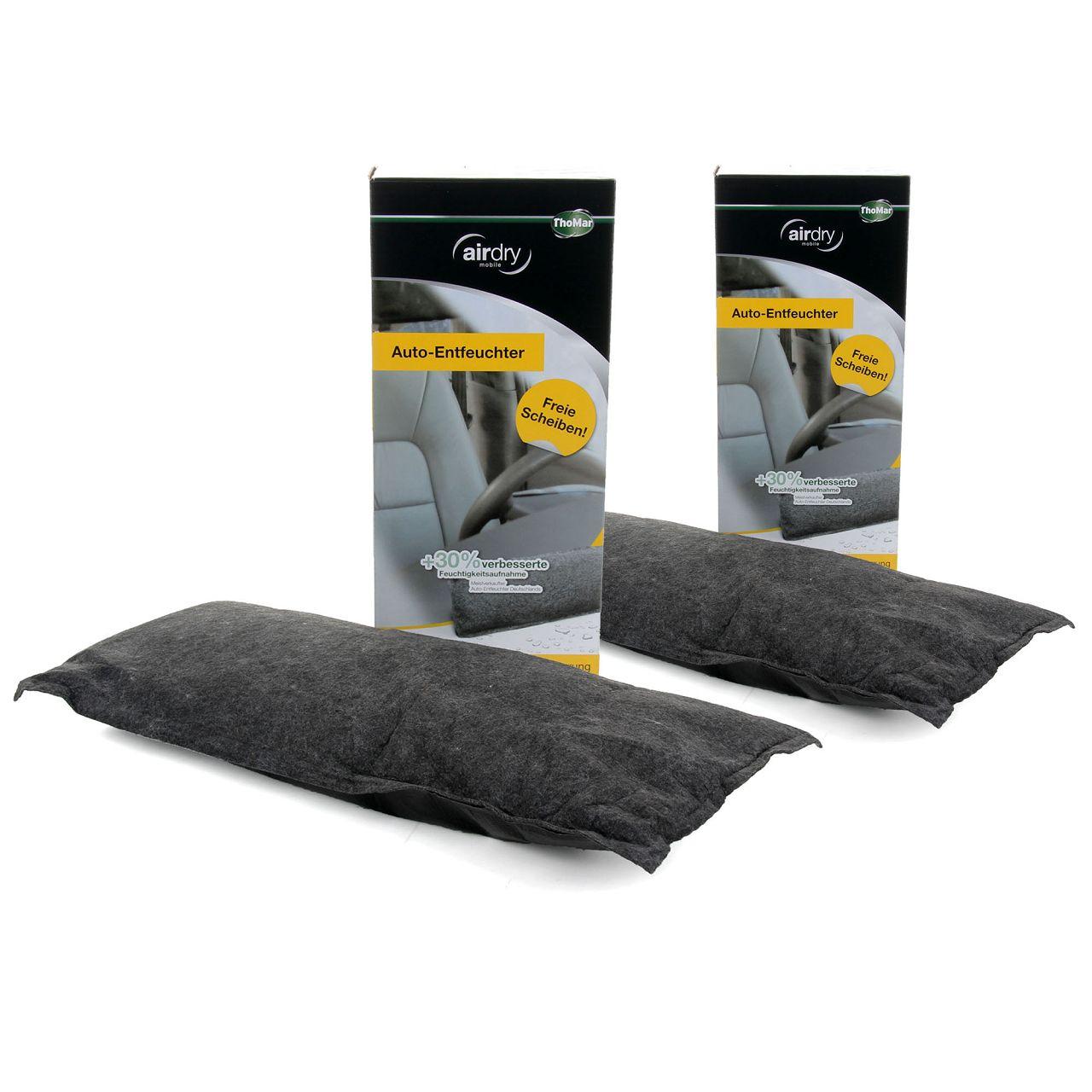 2x ThoMar AirDry +30% Auto Entfeuchter Luftentfeuchter Granulat Scheibenfrei 1kg