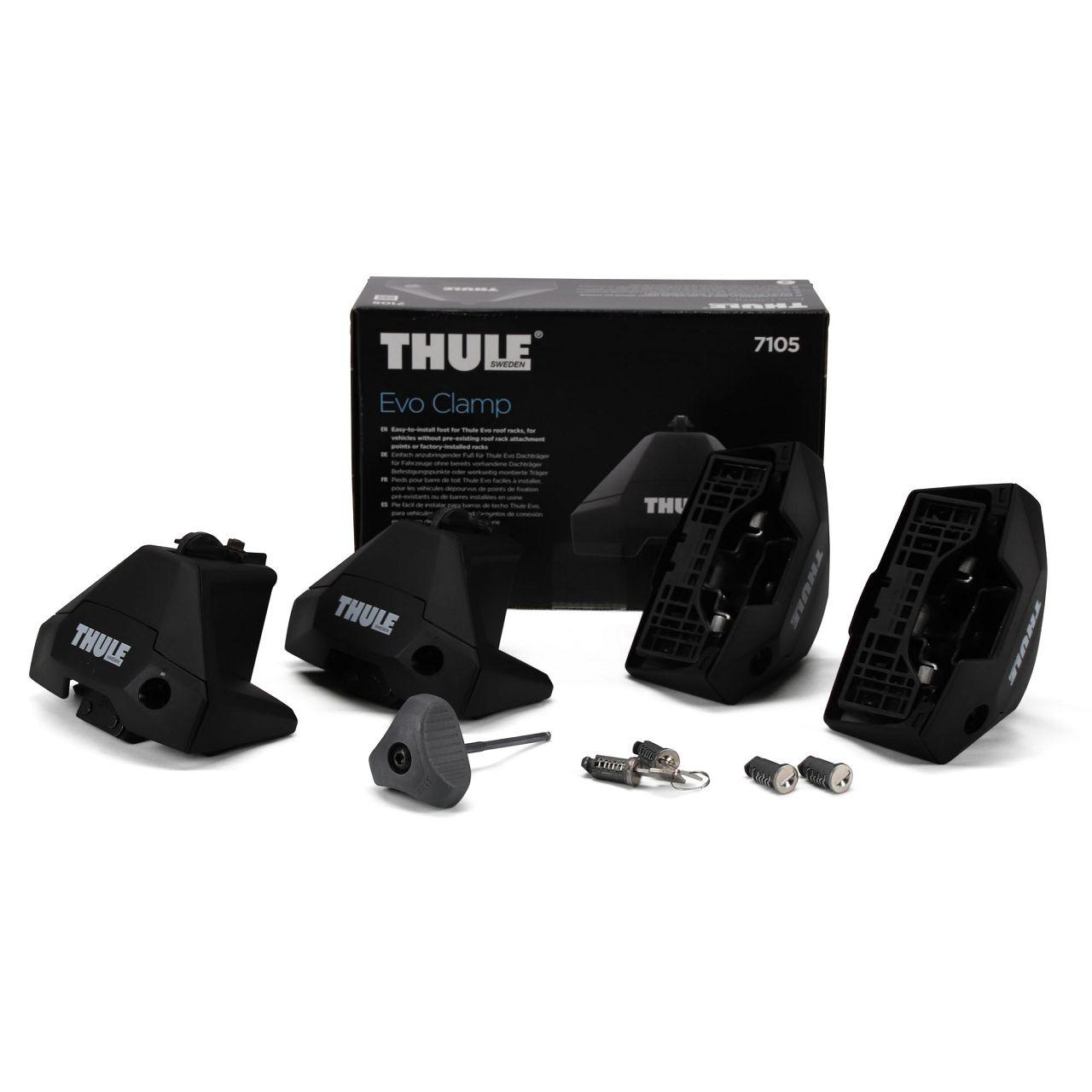 THULE Evo CLAMP 7105 Dachträgerfußsatz Dachträgerfuß Fuß Pack 710500