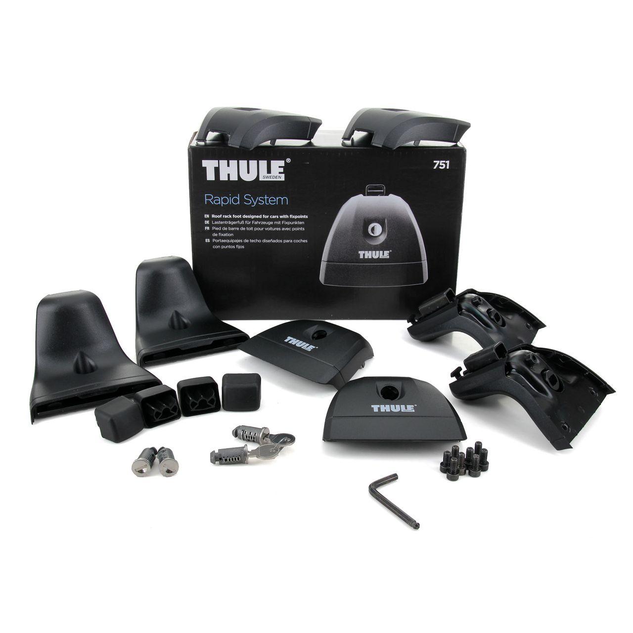 THULE Rapid System 751 Relingträger Fußsatz für Dachträger