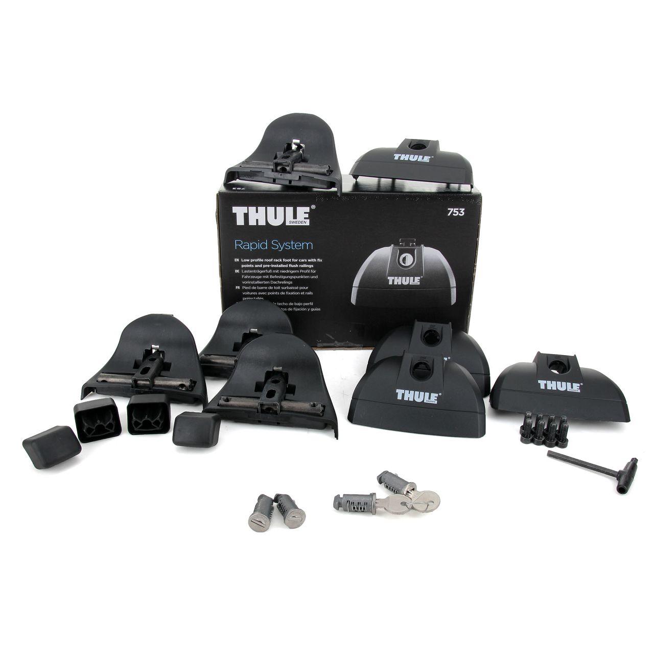THULE Rapid System 753 Relingträger Fußsatz für Dachträger