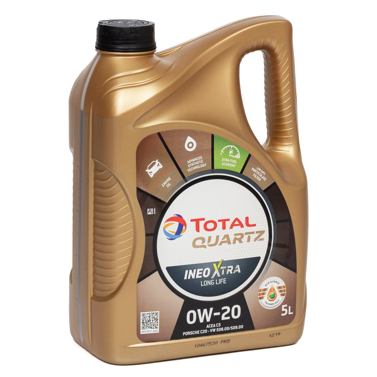 TOTAL Motoröl Öl QUARTZ INEO XTRA LONGLIFE 0W-20 0W20 VW 508/509.00 - 5L 5 Liter