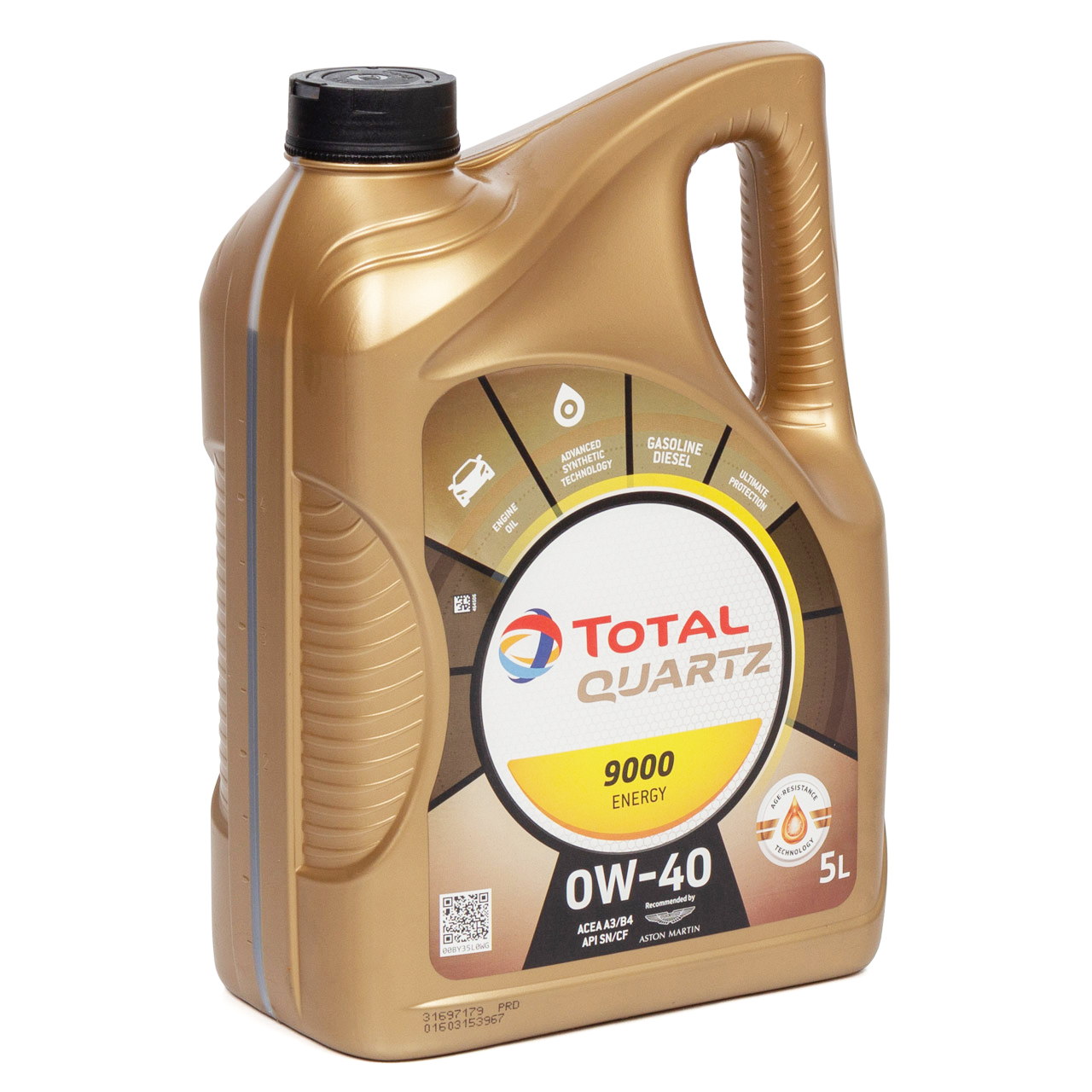 TOTAL QUARTZ 9000 ENERGY 0W40 Motoröl Öl VW 502/505.00 MB 229.5 - 5L 5 Liter