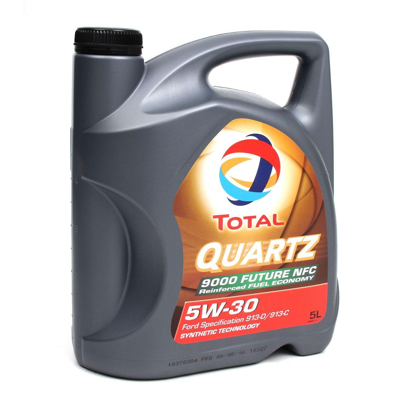 TOTAL QUARTZ 9000 FUTURE NFC 5W-30 Motoröl 5L 5W30 5 Liter für FORD WSS-M2C913-D