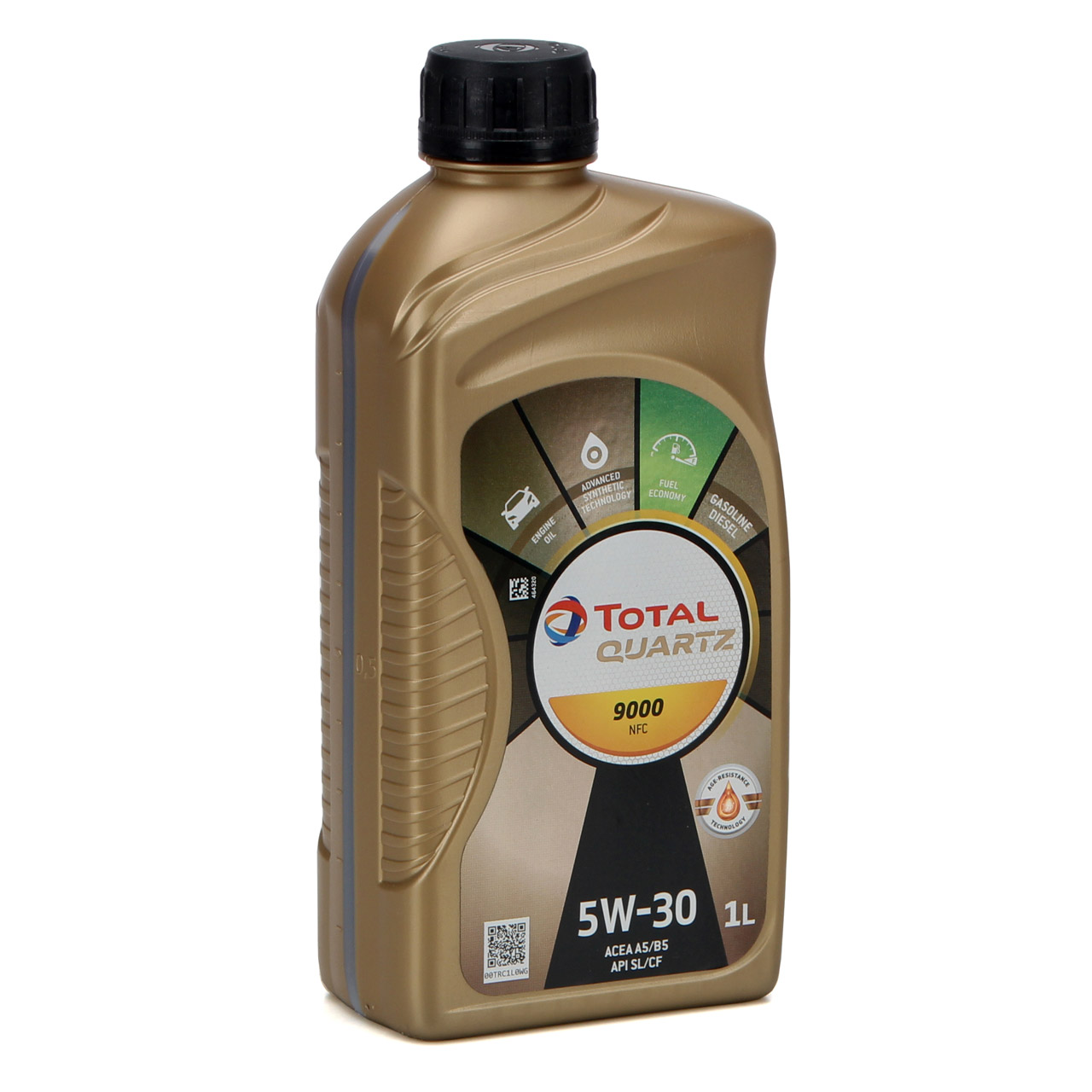 4L 4 Liter TOTAL Motoröl Öl QUARTZ 9000 NFC 5W-30 ACEA A5/B5 FORD WSS-M2C913-D