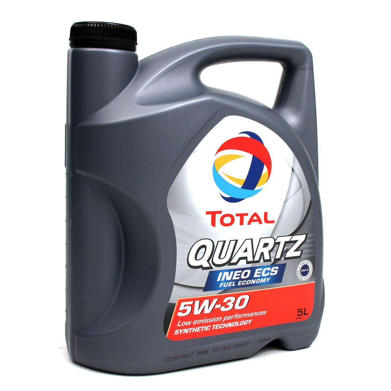TOTAL QUARTZ INEO ECS 5W-30 Motoröl PSA B71 2290 Fiat 9.55535-S1 - 5L 5 Liter