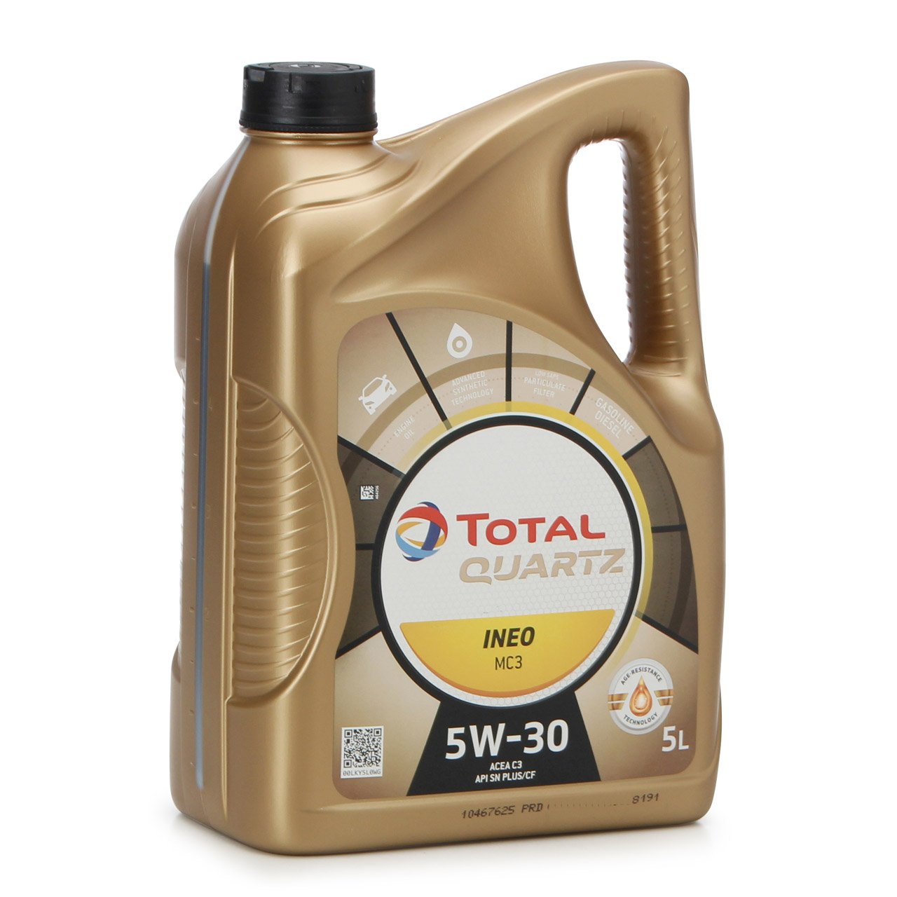 20L 20 Liter TOTAL QUARTZ INEO MC3 5W-30 Motoröl MB 229.52 BMW LL-04 VW 505.01