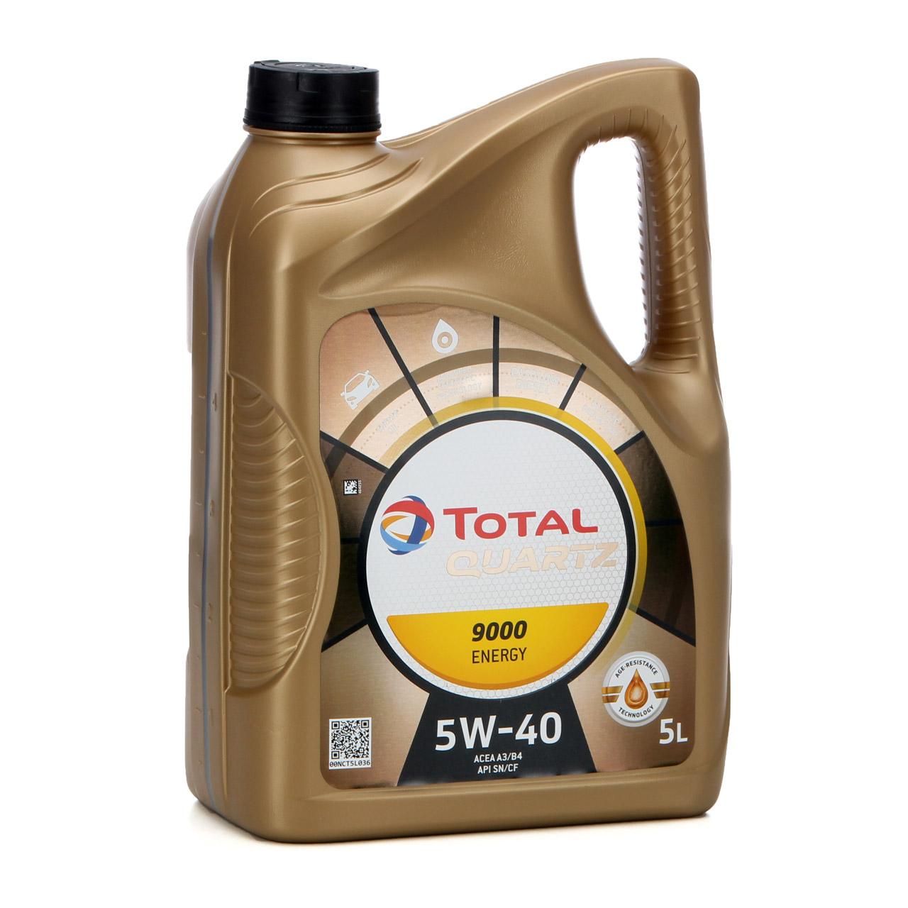 TOTAL QUARTZ 9000 ENERGY 5W-40 Motoröl VW 502.00 505.00 MB 229.5 - 5L 5 Liter