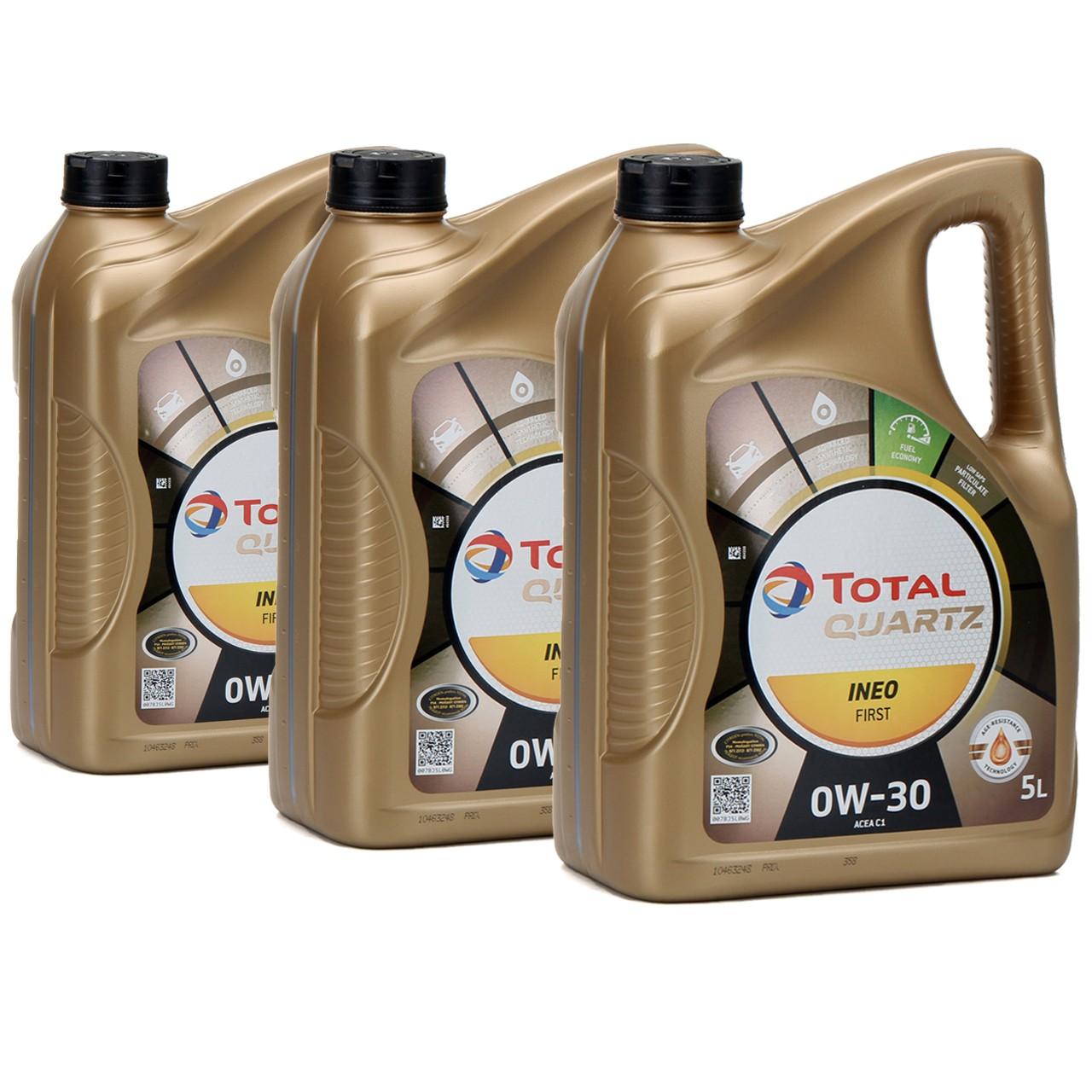 TOTAL QUARTZ INEO FIRST Motoröl Öl 0W-30 ACEA C1 C2 PSA B71 2312 - 15L 15 Liter