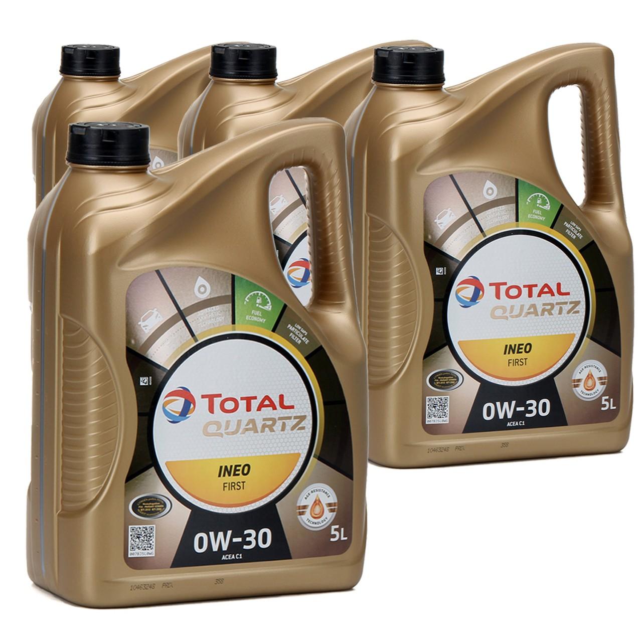 TOTAL QUARTZ INEO FIRST Motoröl Öl 0W-30 ACEA C1 C2 PSA B71 2312 - 20L 20 Liter