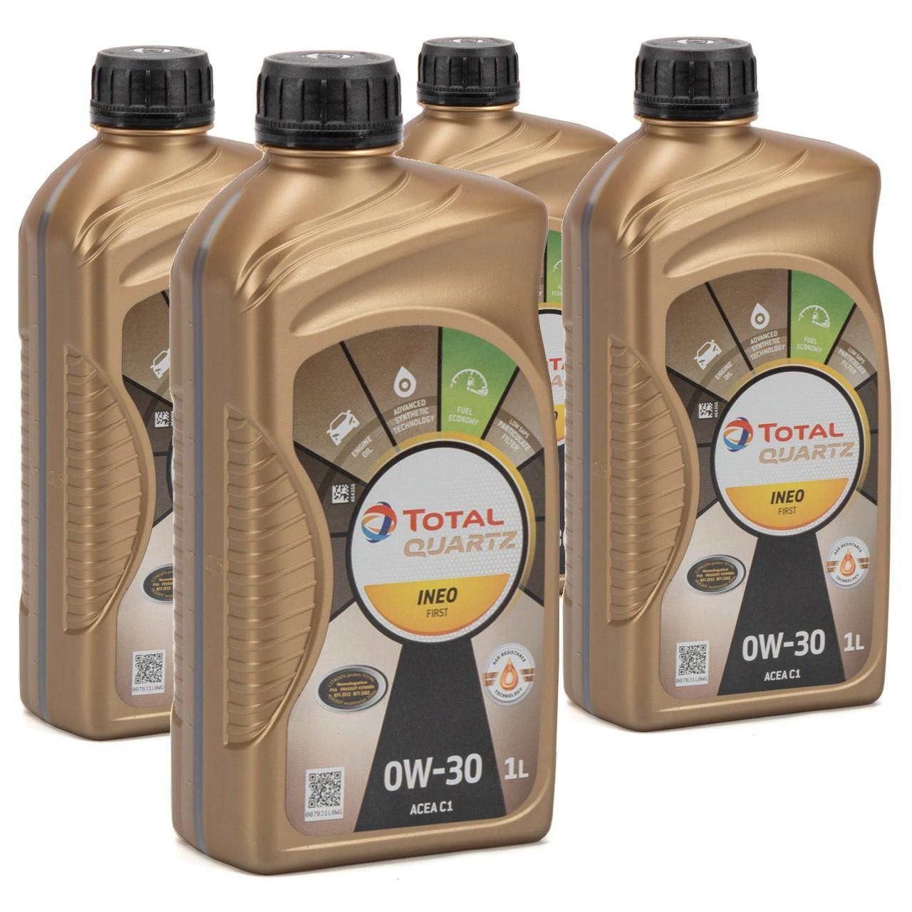 TOTAL QUARTZ INEO FIRST Motoröl Öl 0W-30 ACEA C1 C2 PSA B71 2312 - 4L 4 Liter