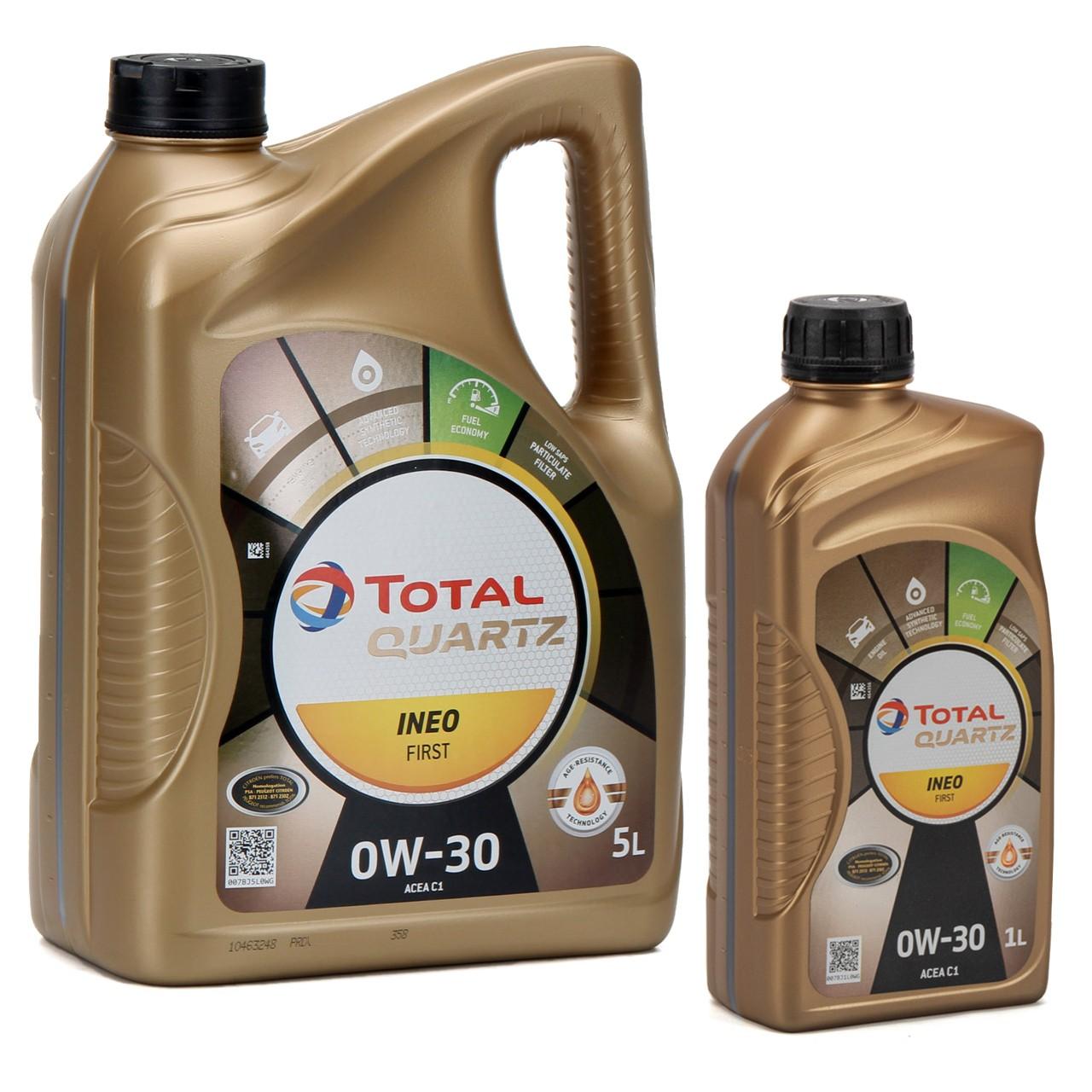 TOTAL QUARTZ INEO FIRST Motoröl Öl 0W-30 ACEA C1 C2 PSA B71 2312 - 6L 6 Liter