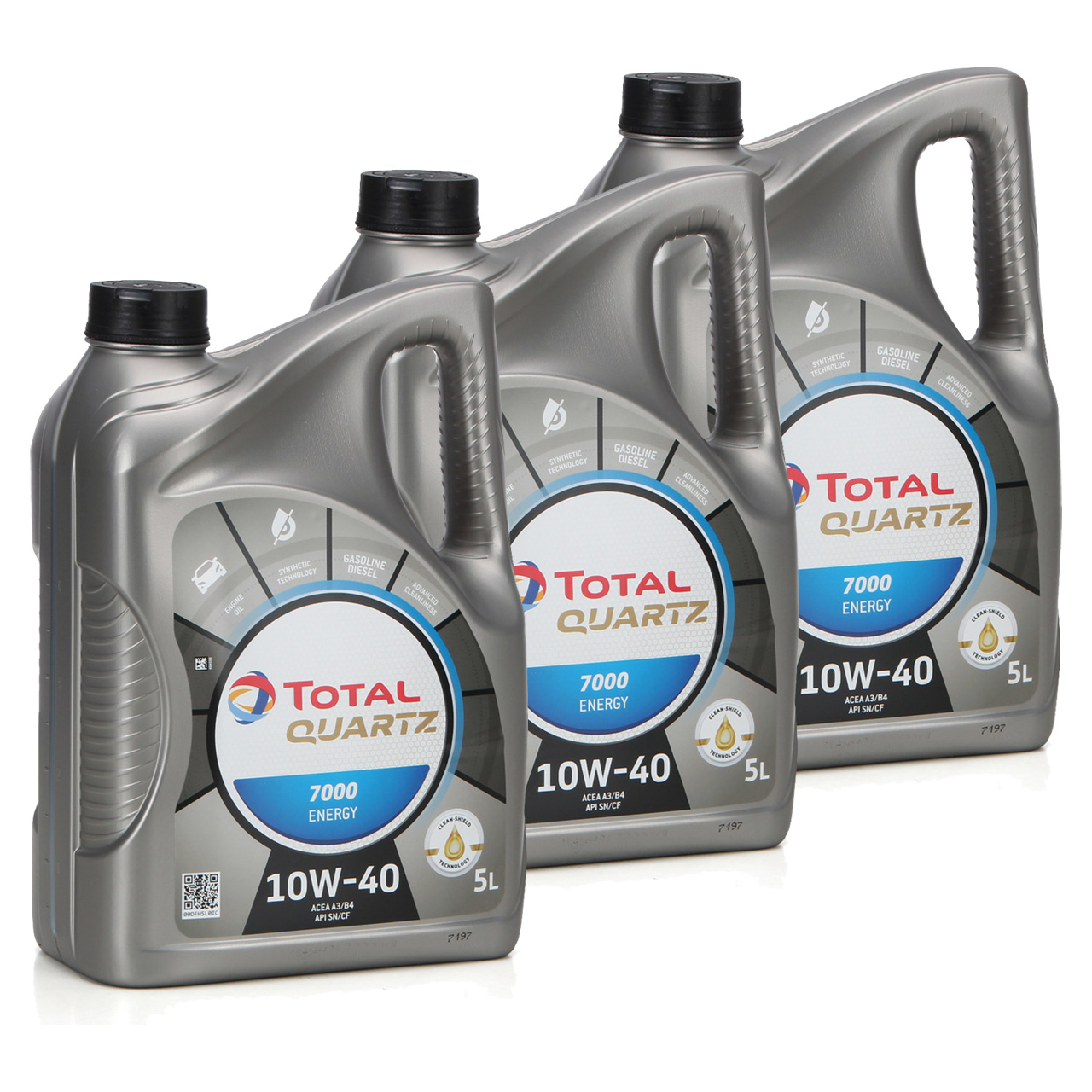TOTAL QUARTZ 7000 ENERGY Motoröl Öl 10W-40 10W40 VW 501.01/505.00 - 15L 15 Liter