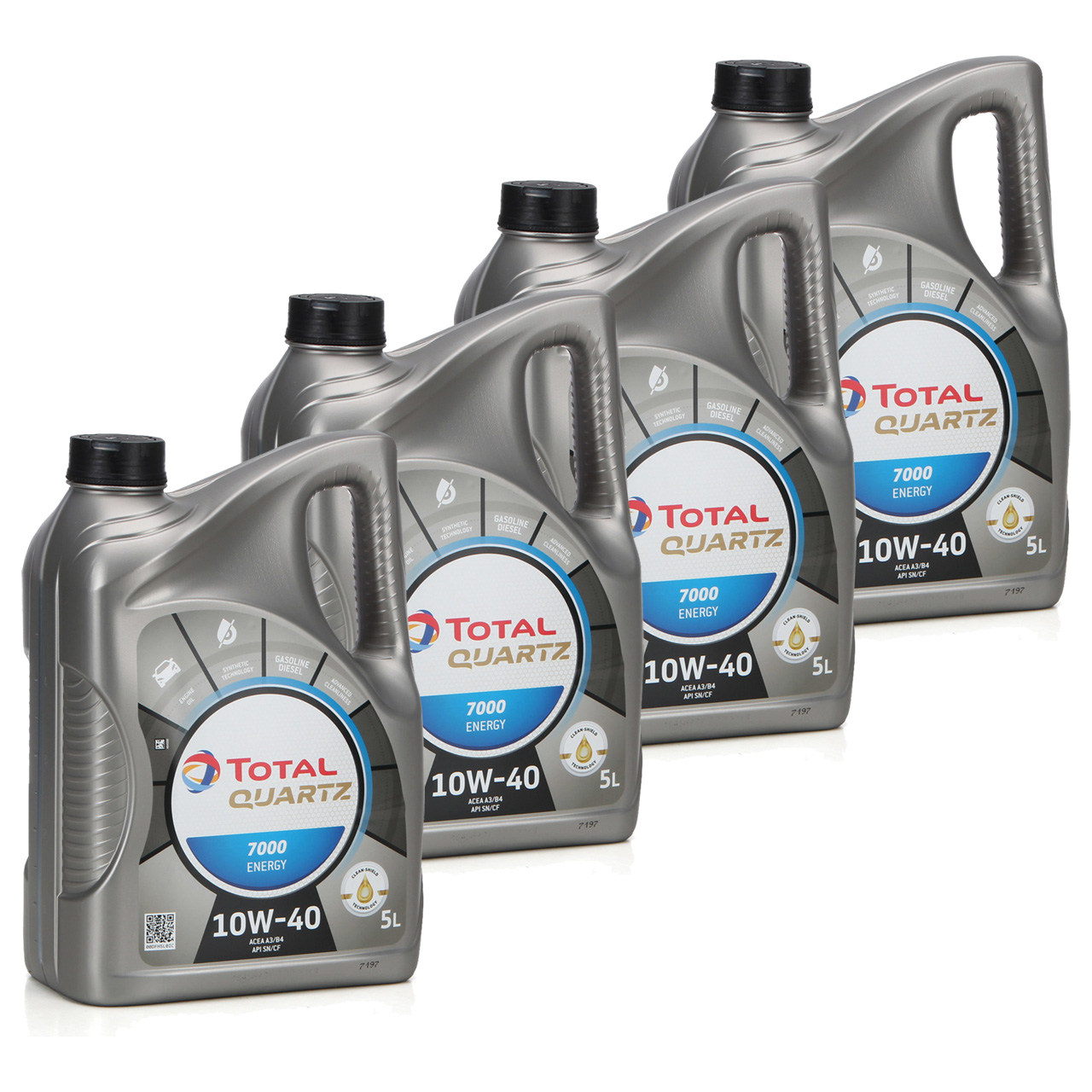 TOTAL QUARTZ 7000 ENERGY Motoröl Öl 10W-40 10W40 VW 501.01/505.00 - 20L 20 Liter